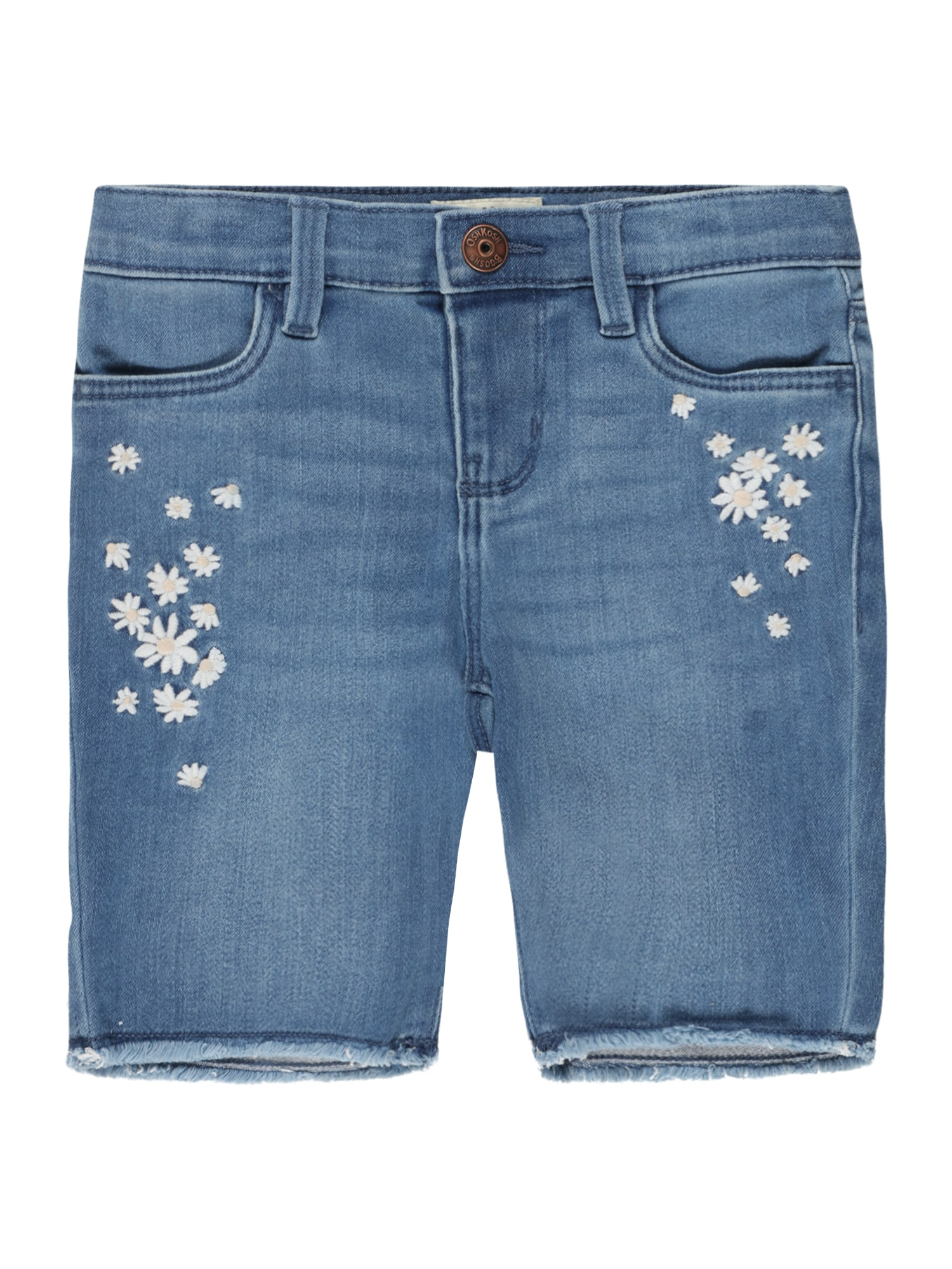 OshKosh Džinsai tamsiai (džinso) mėlyna / balta / persikų spalva