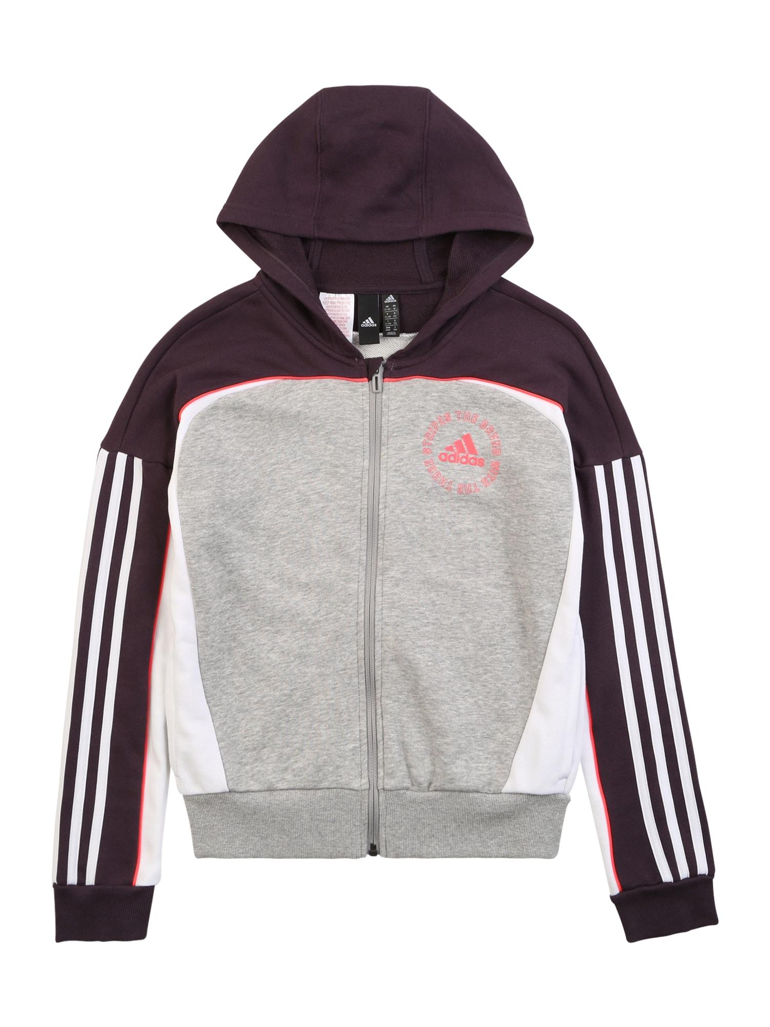 ADIDAS PERFORMANCE Sportinis džemperis balta / oranžinė / pilka / slyvų spalva