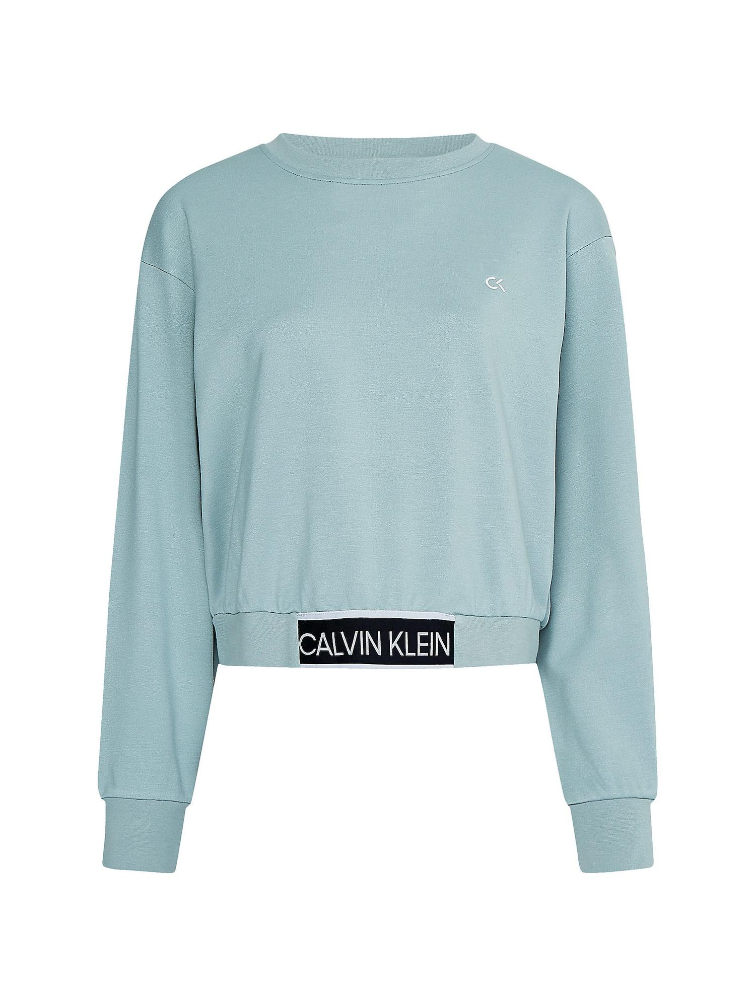 Calvin Klein Performance Sportinio tipo megztinis mėtų spalva / juoda
