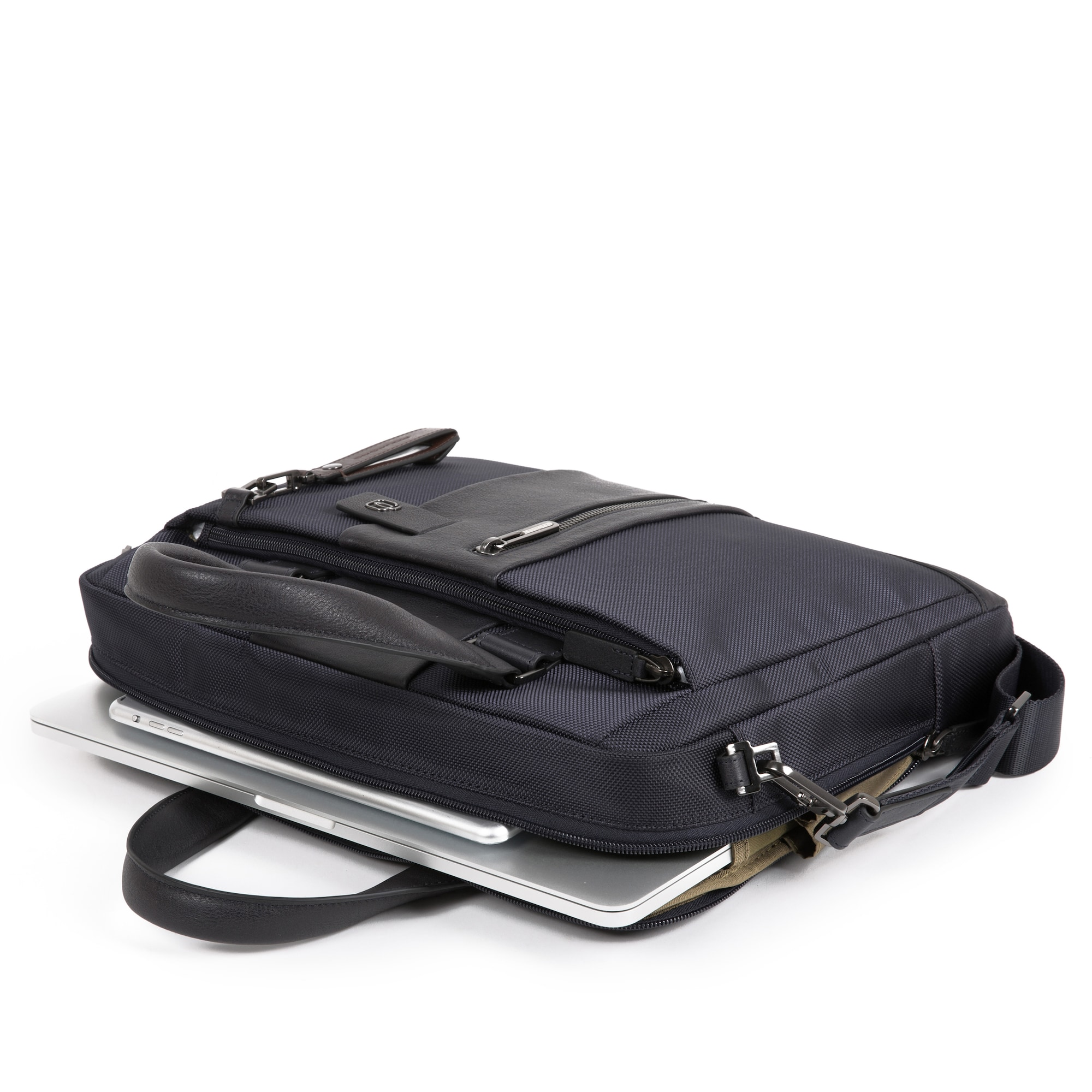 piquadro - Laptoptasche Leder 37 cm Laptopfach