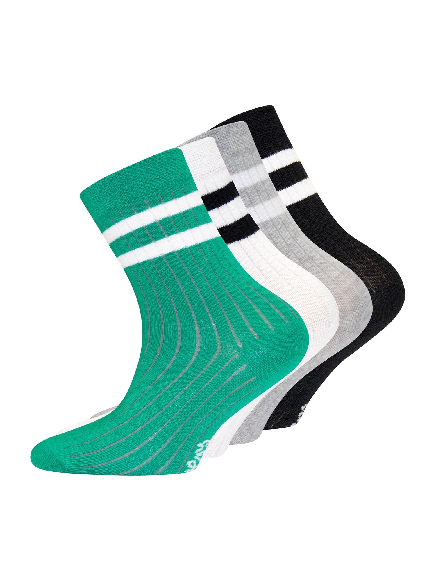 EWERS Kojinės žalia / balta / juoda / šviesiai pilka