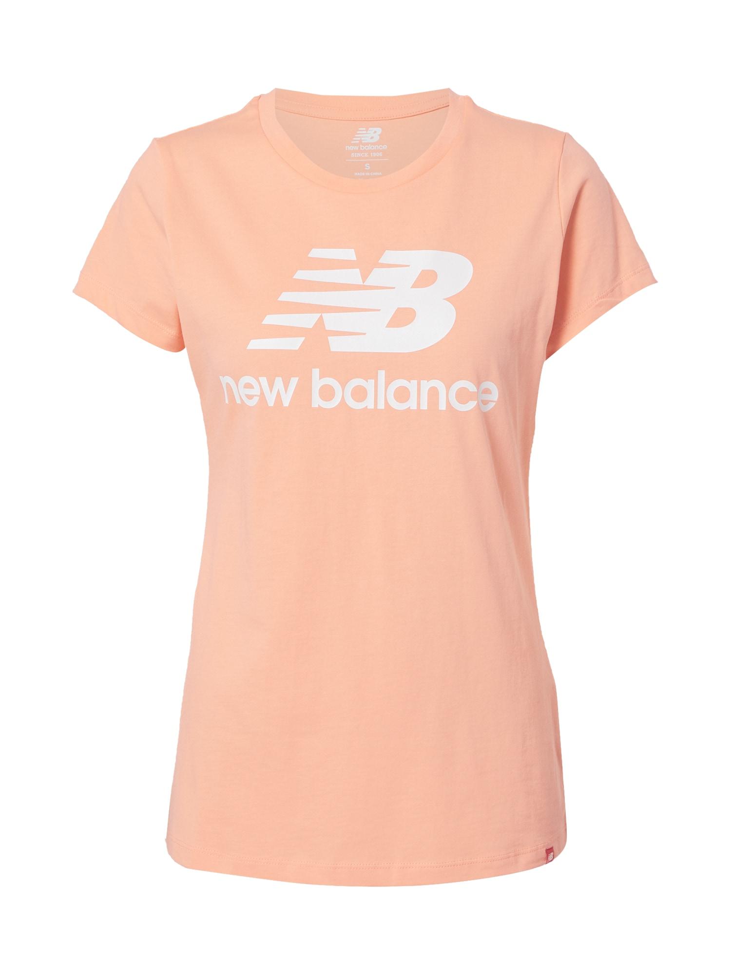 new balance Marškinėliai šviesiai rožinė / balta