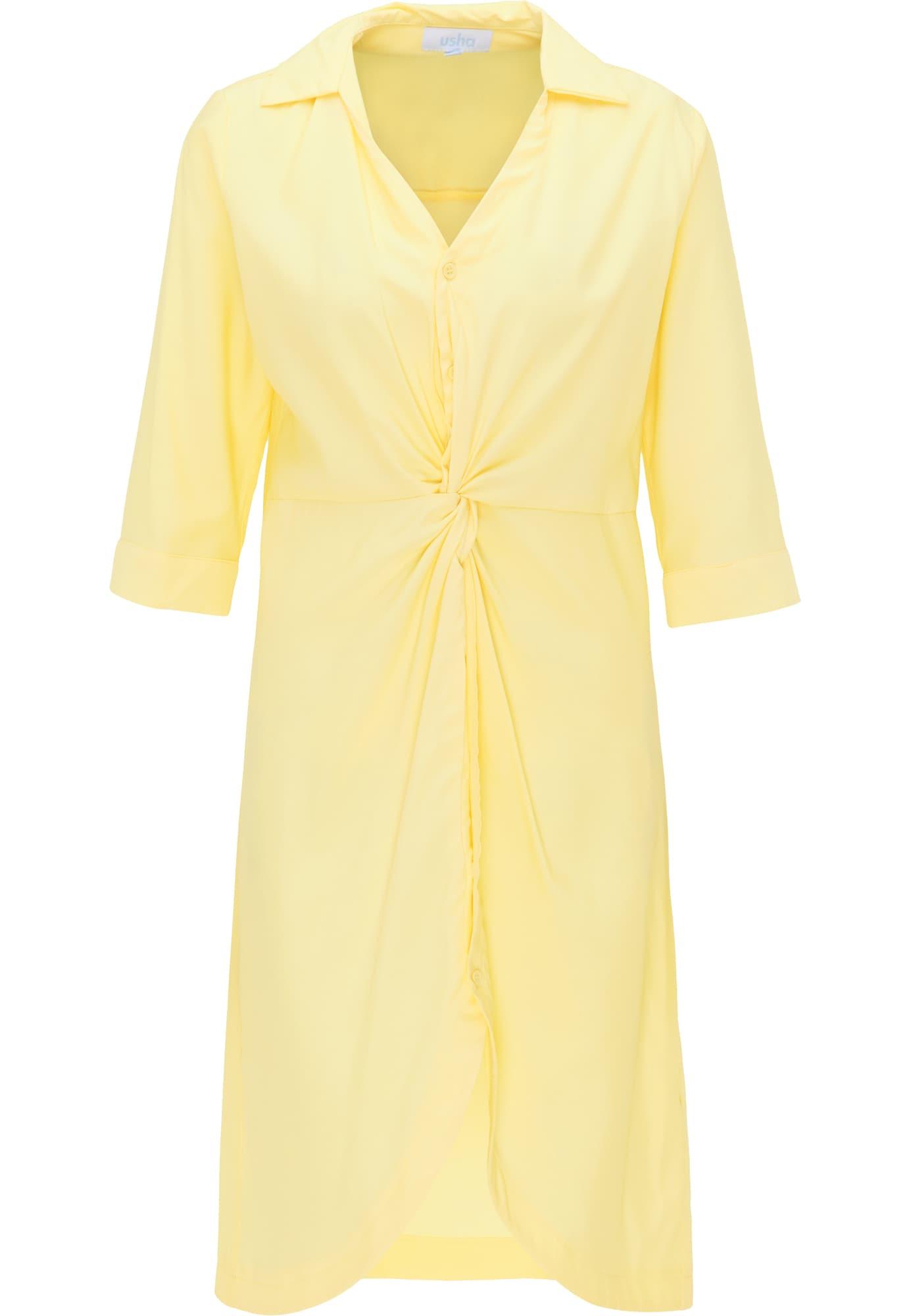 usha BLUE LABEL Palaidinės tipo suknelė šviesiai geltona
