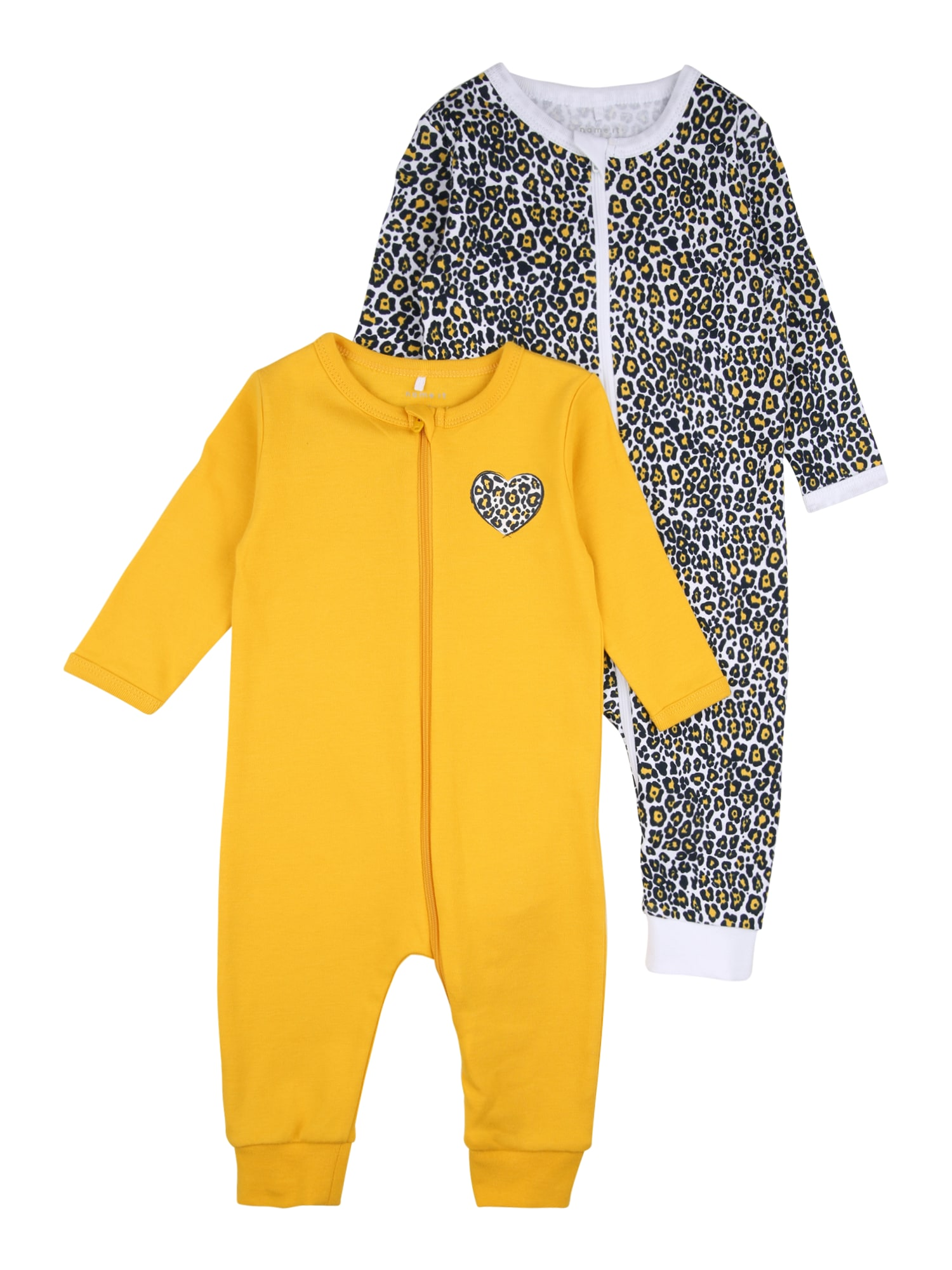 NAME IT Miego kostiumas geltona / balta / juoda