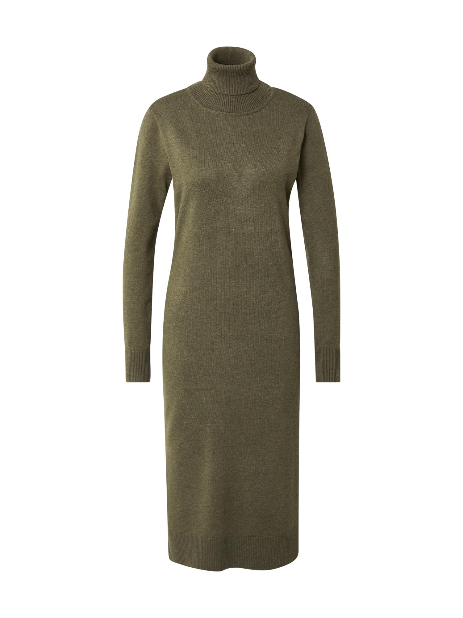 SAINT TROPEZ Úpletové šaty 'Mila'  zelený melír