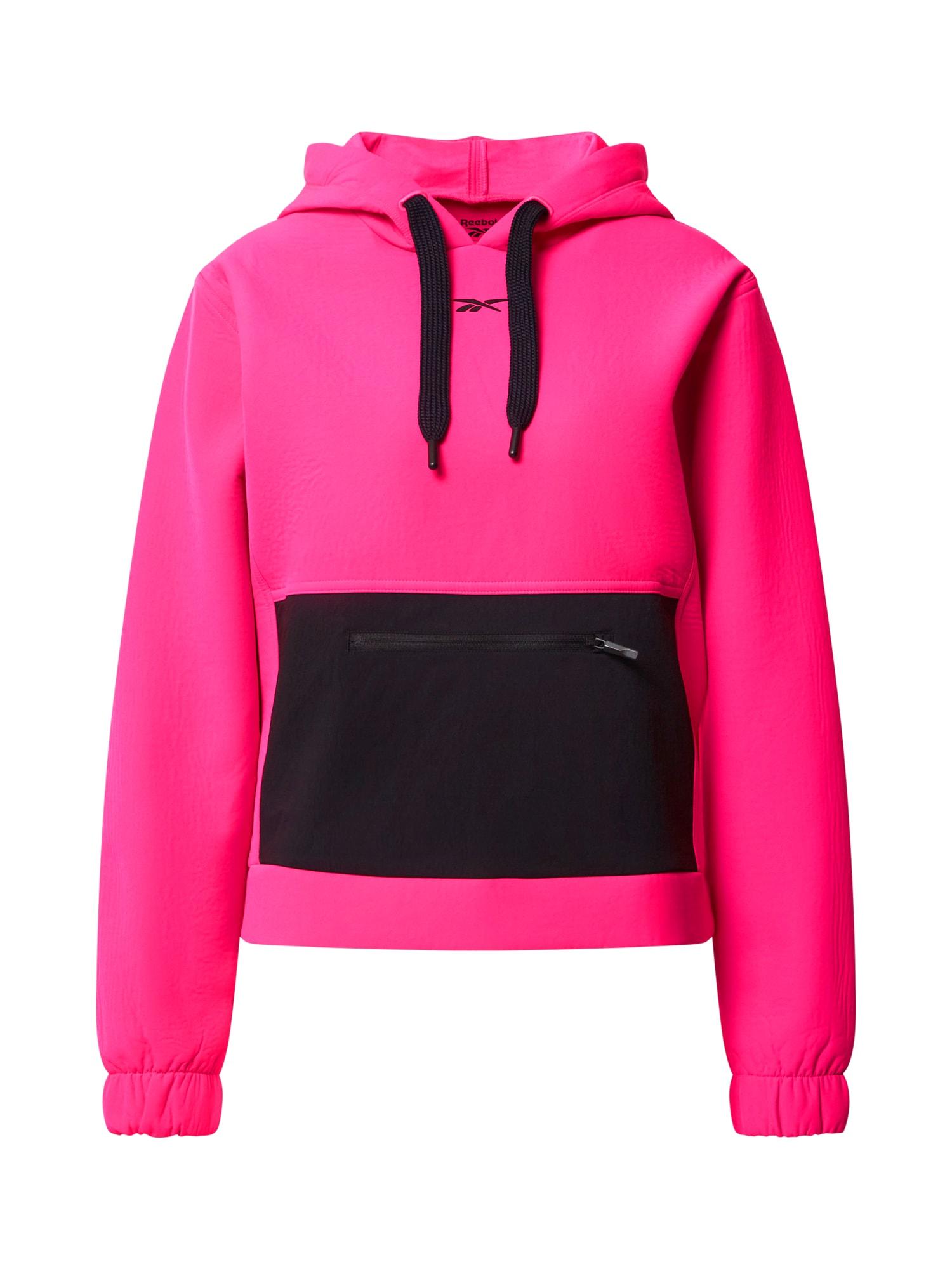 REEBOK Sportinio tipo megztinis rožinė / juoda
