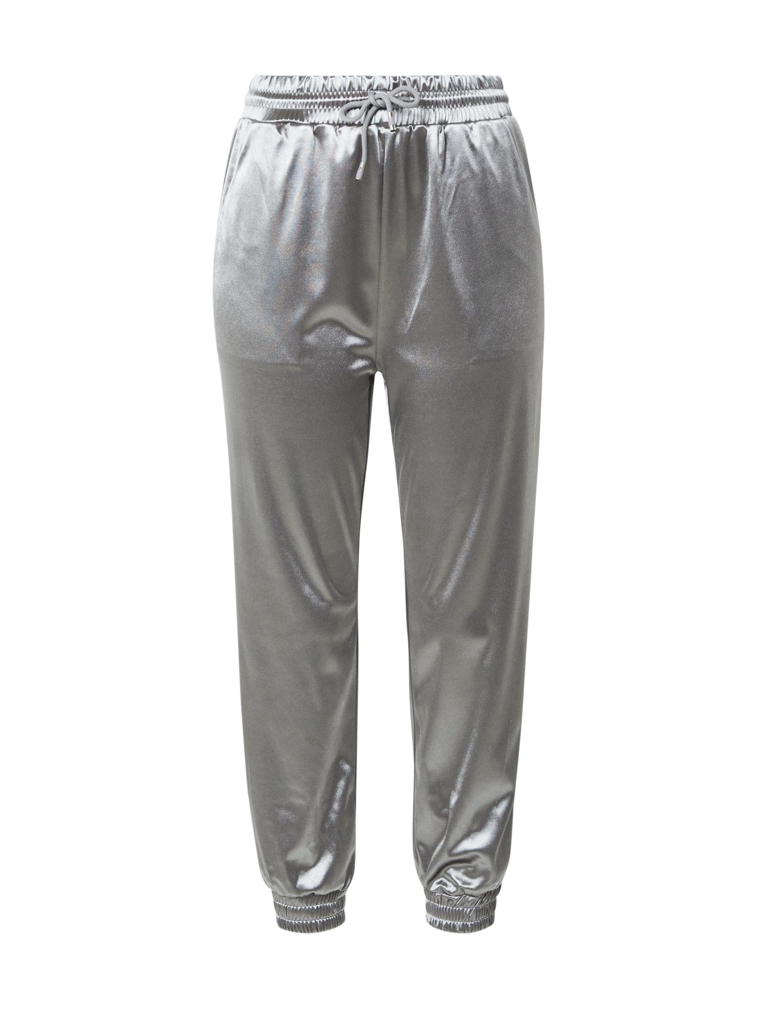 AX Paris Kelnės sidabro pilka