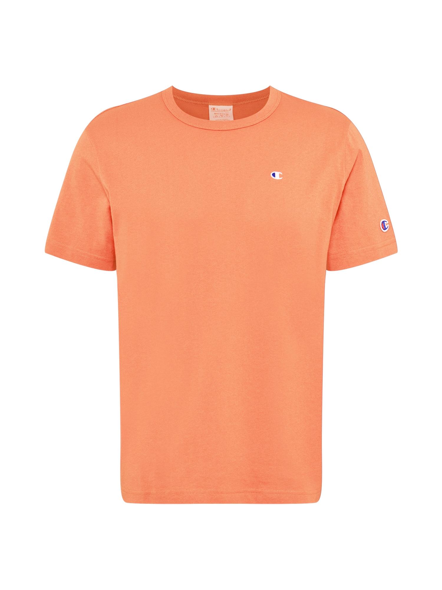 Champion Reverse Weave Marškinėliai balta / tamsiai mėlyna / šviesiai oranžinė