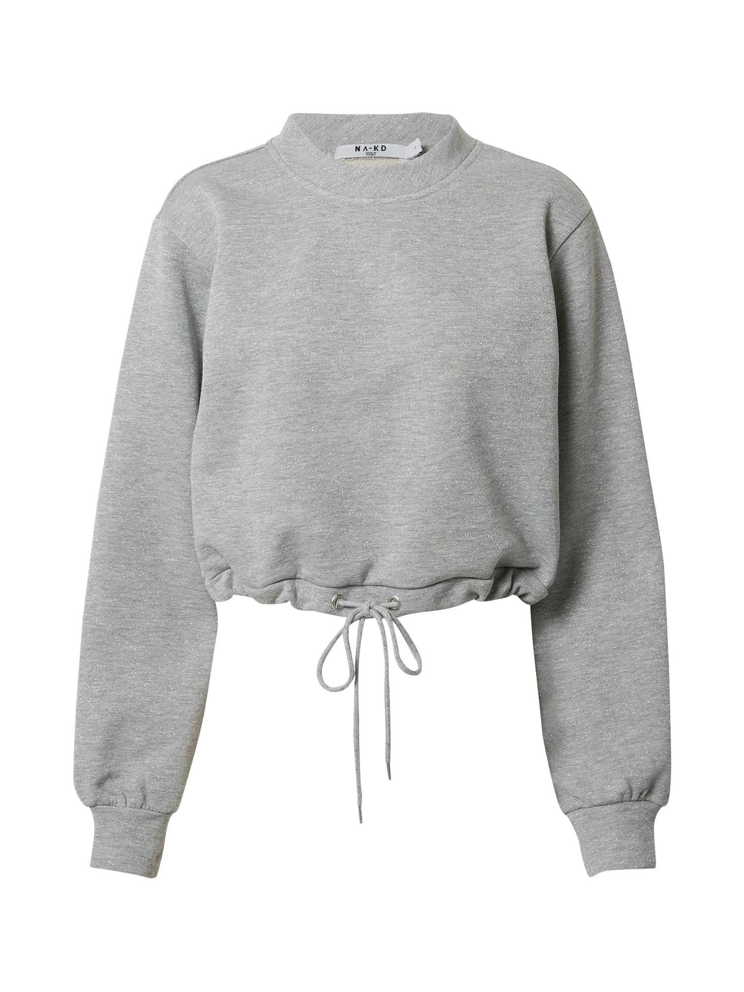NA-KD Megztinis be užsegimo pilka / sidabrinė