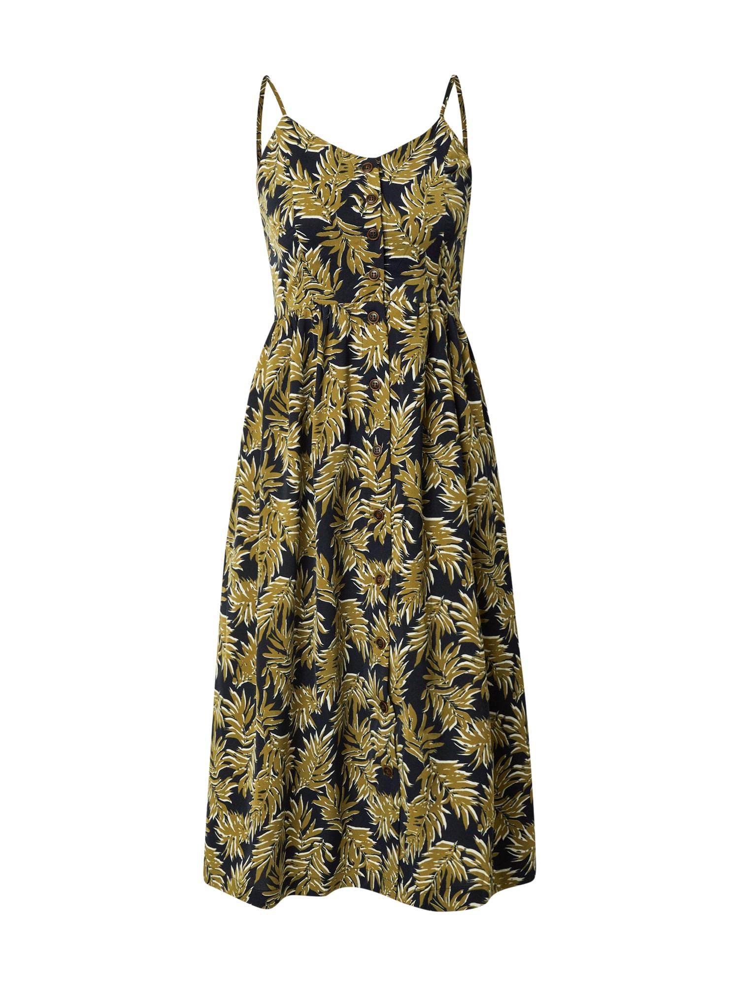 Funky Buddha Palaidinės tipo suknelė tamsiai mėlyna jūros spalva / alyvuogių spalva / balta