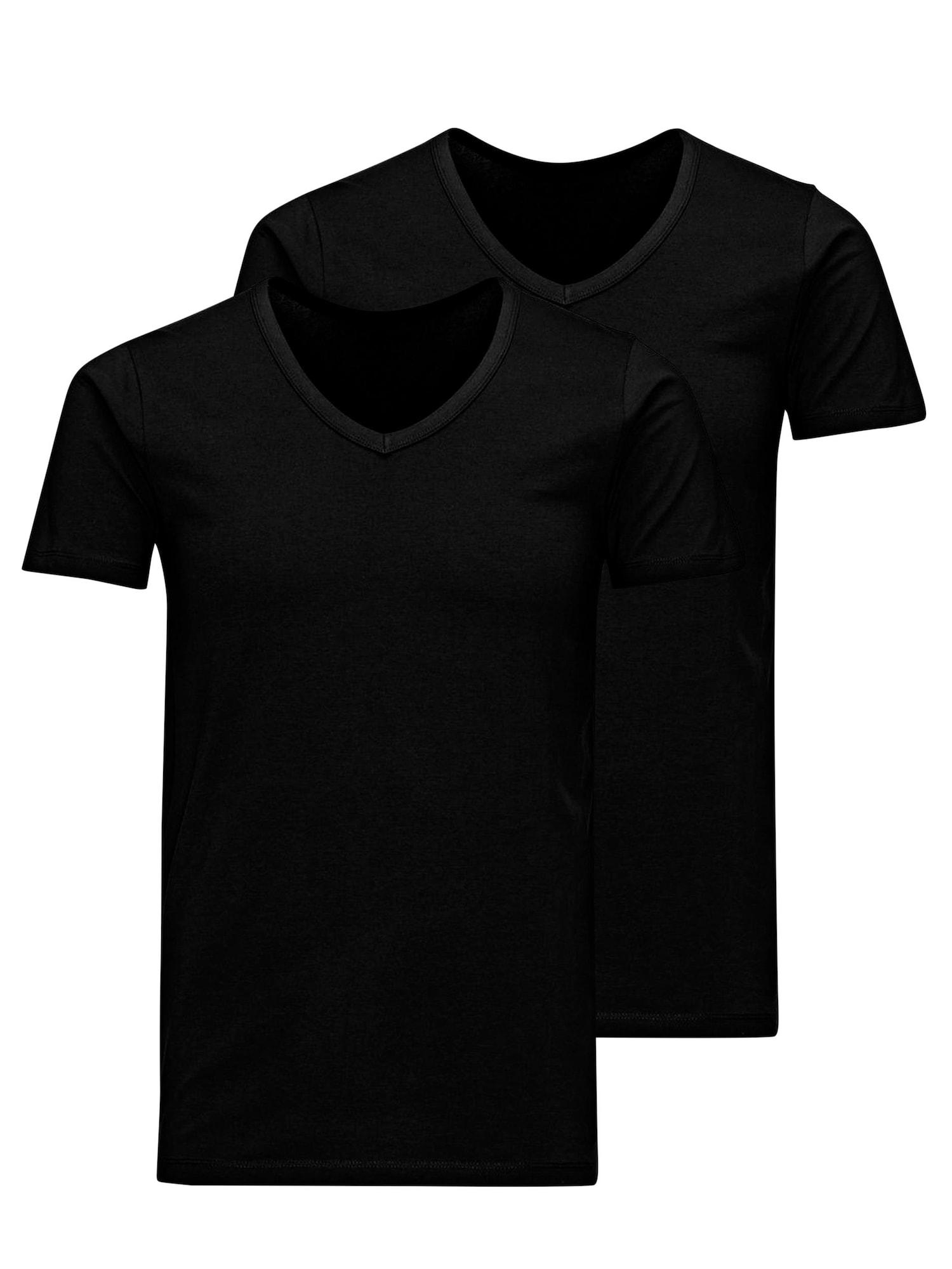 JACK & JONES Marškinėliai juoda