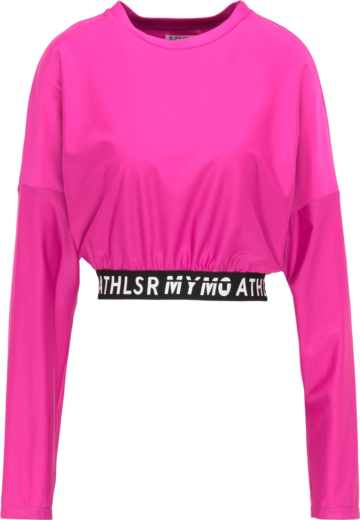 myMo ATHLSR Sportiniai marškinėliai juoda / balta / rožinė