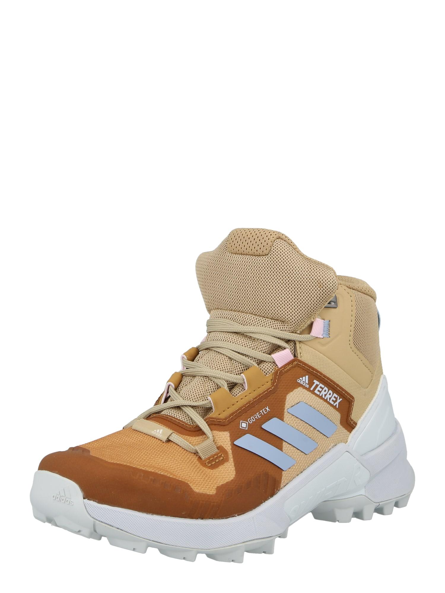 ADIDAS PERFORMANCE Auliniai batai smėlio spalva / ruda / mėlyna / balta
