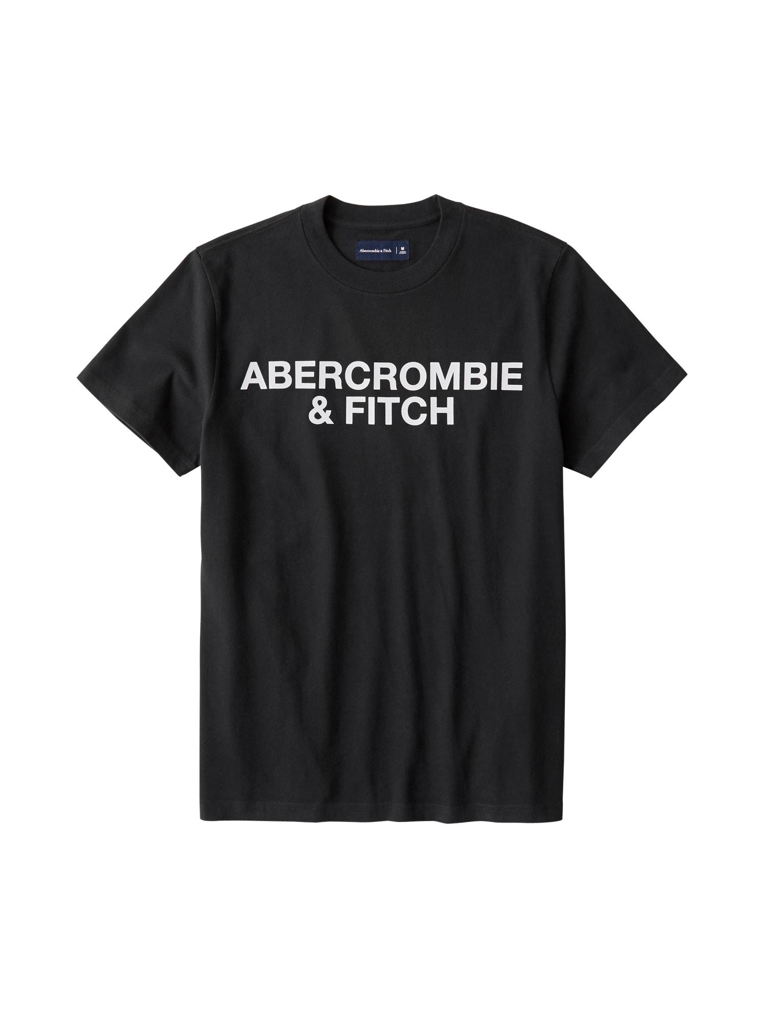 Abercrombie & Fitch Marškinėliai 'SS HW TEE ASIA EXCLUSIVE' juoda