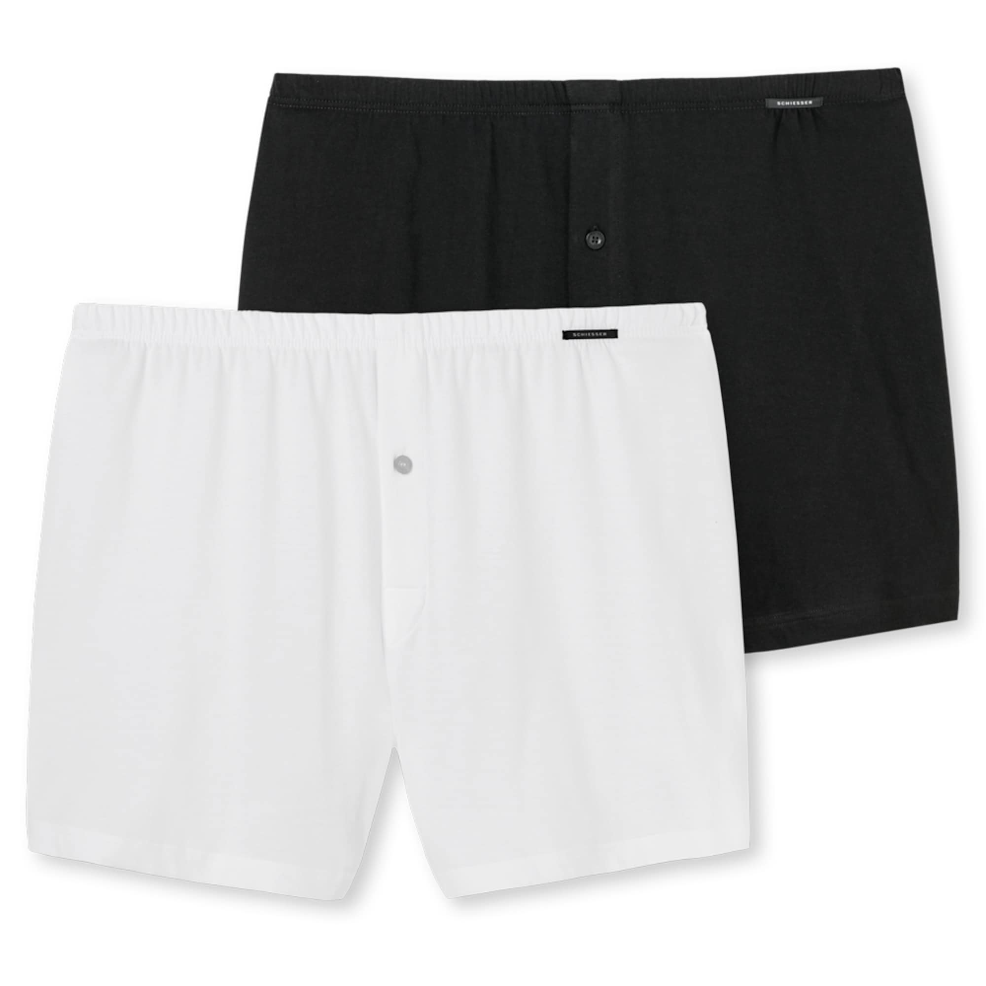 SCHIESSER Boxer trumpikės balta / juoda