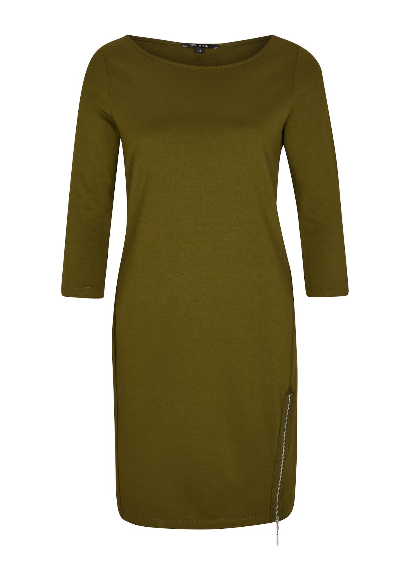 COMMA Suknelė alyvuogių spalva