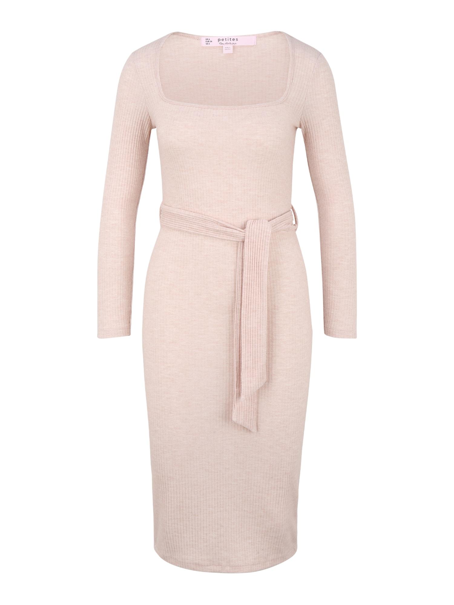 Miss Selfridge (Petite) Megzta suknelė pastelinė rožinė