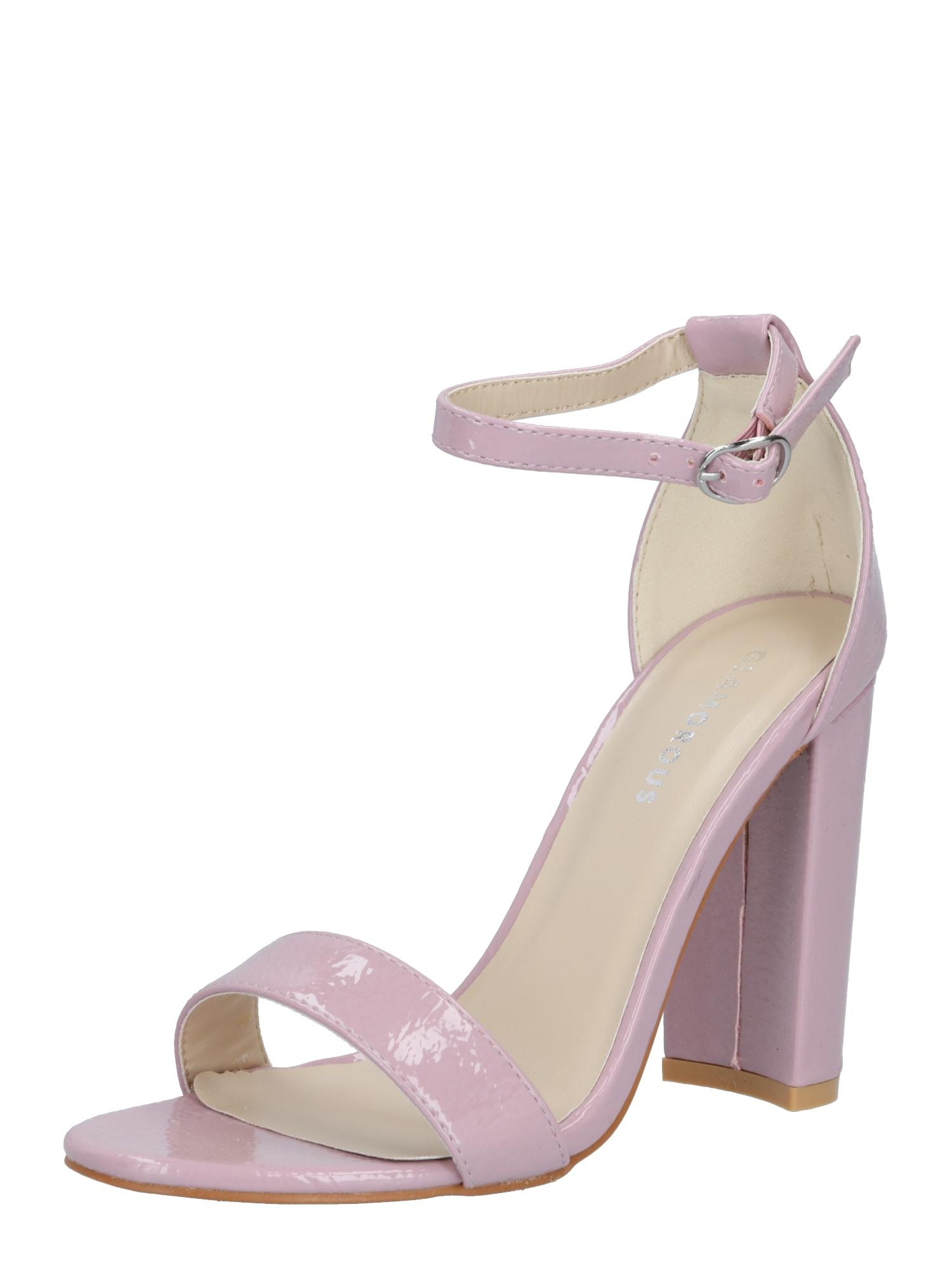 GLAMOROUS Páskové sandály  pastelová fialová