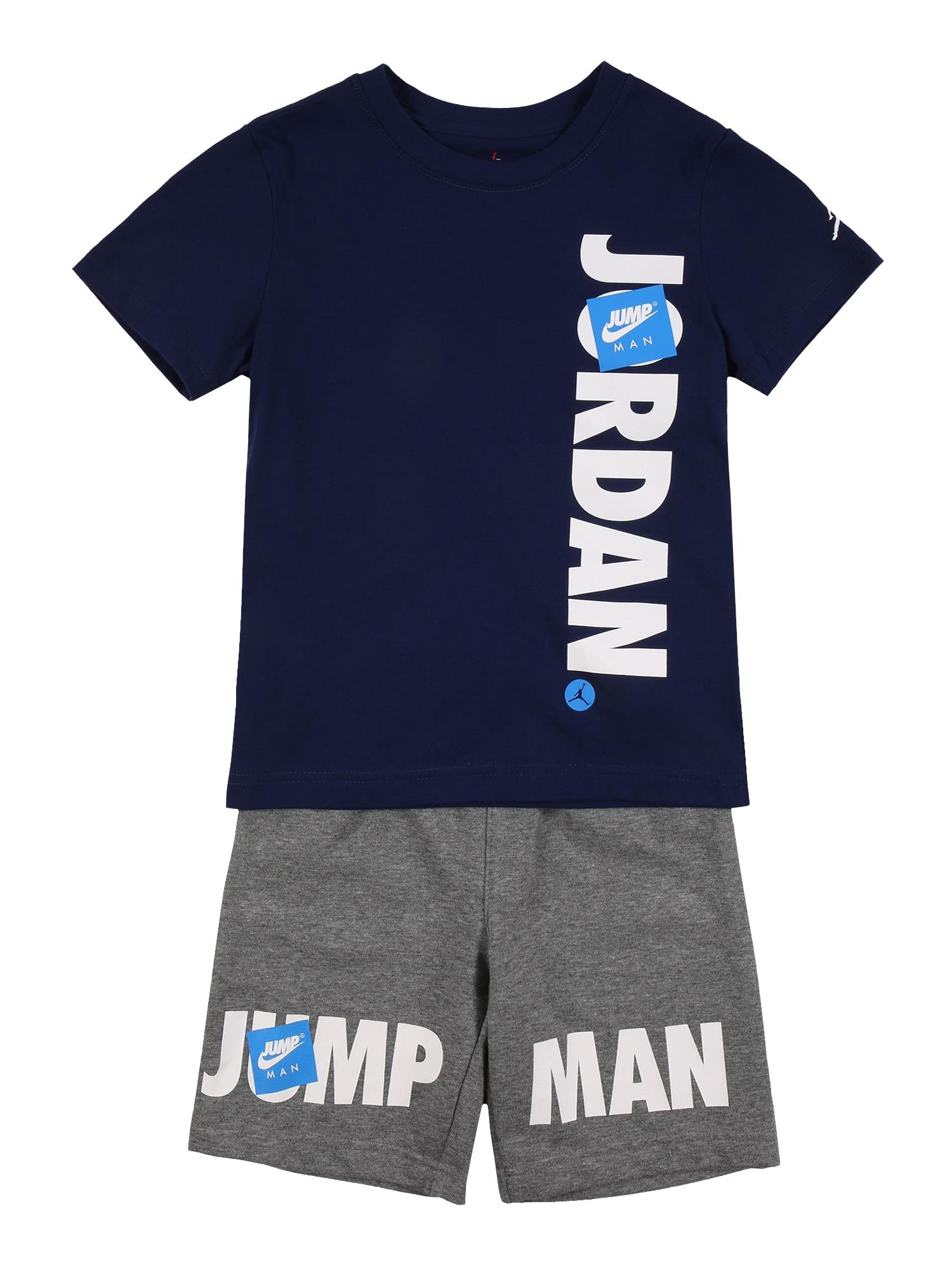 Jordan Rinkinys tamsiai mėlyna / margai pilka / balta / šviesiai mėlyna