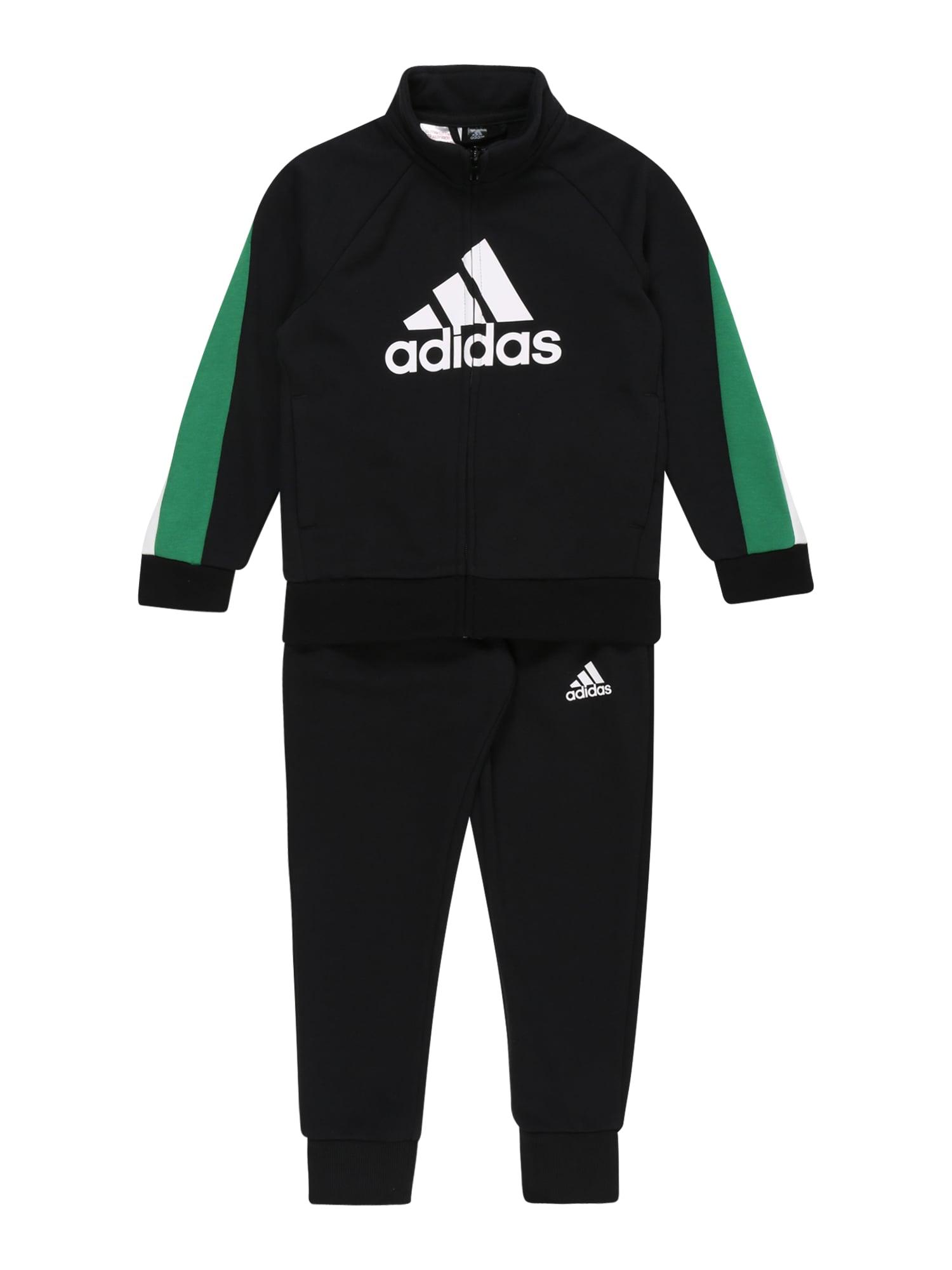 ADIDAS PERFORMANCE Treniruočių kostiumas žalia / juoda / balta