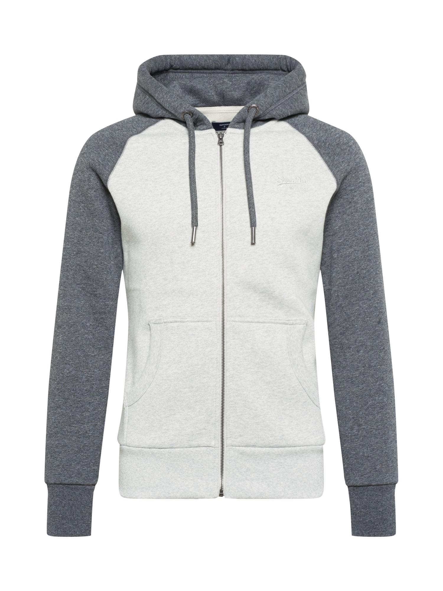 Superdry Džemperis šviesiai pilka / margai pilka