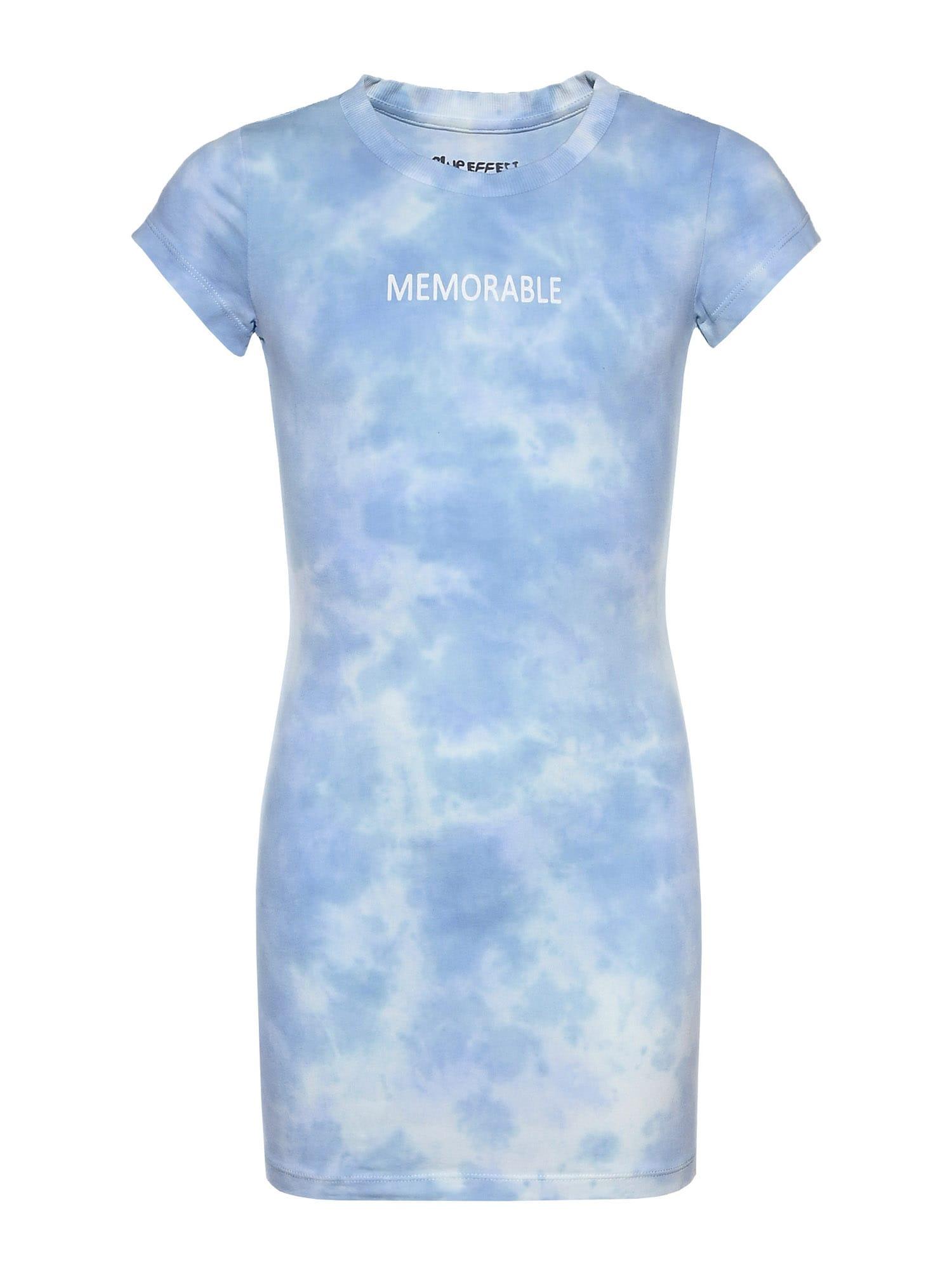 BLUE EFFECT Suknelė mėlyna / šviesiai mėlyna / balta