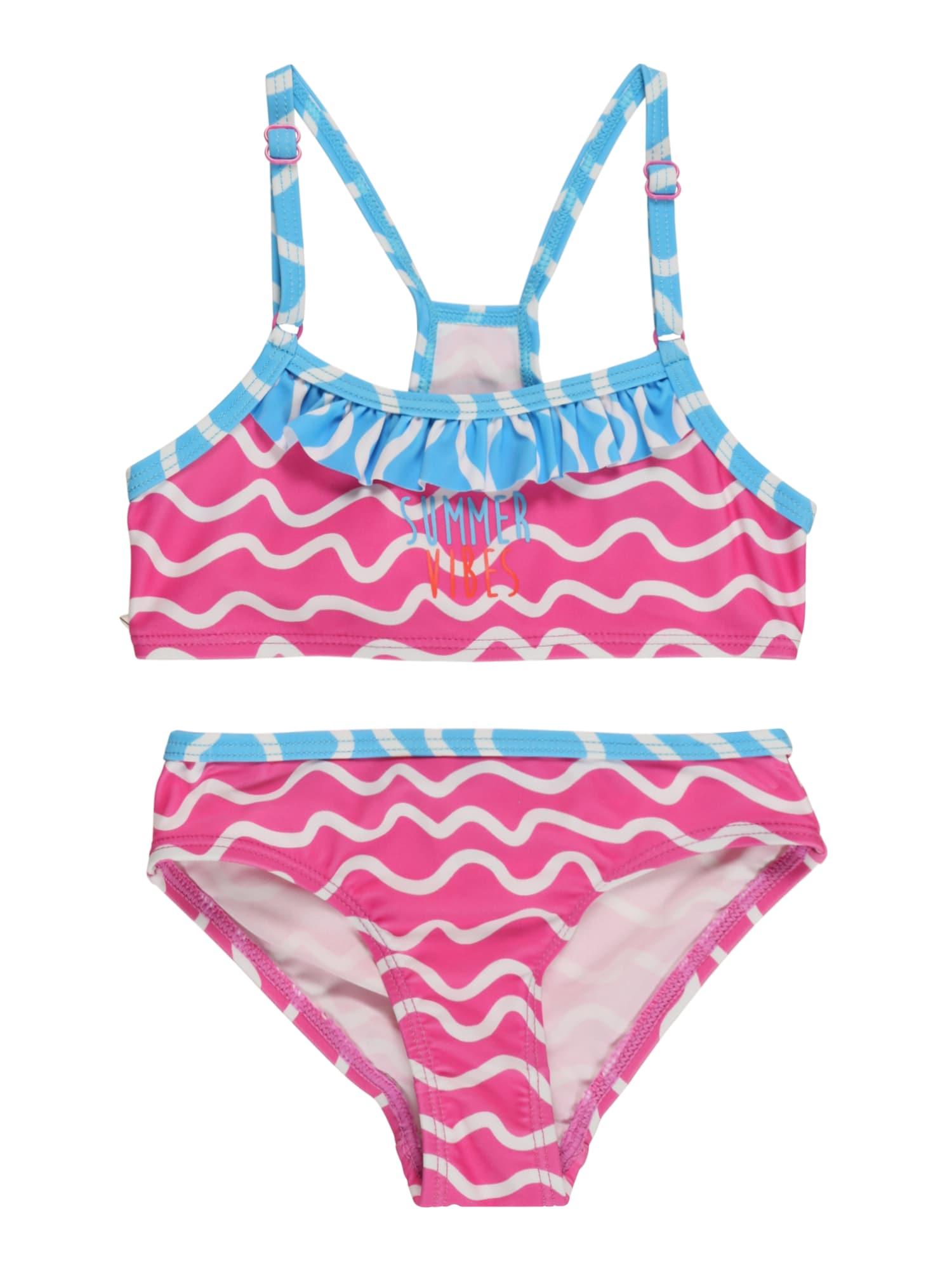 SCHIESSER Bikinis rožinė / balta / dangaus žydra