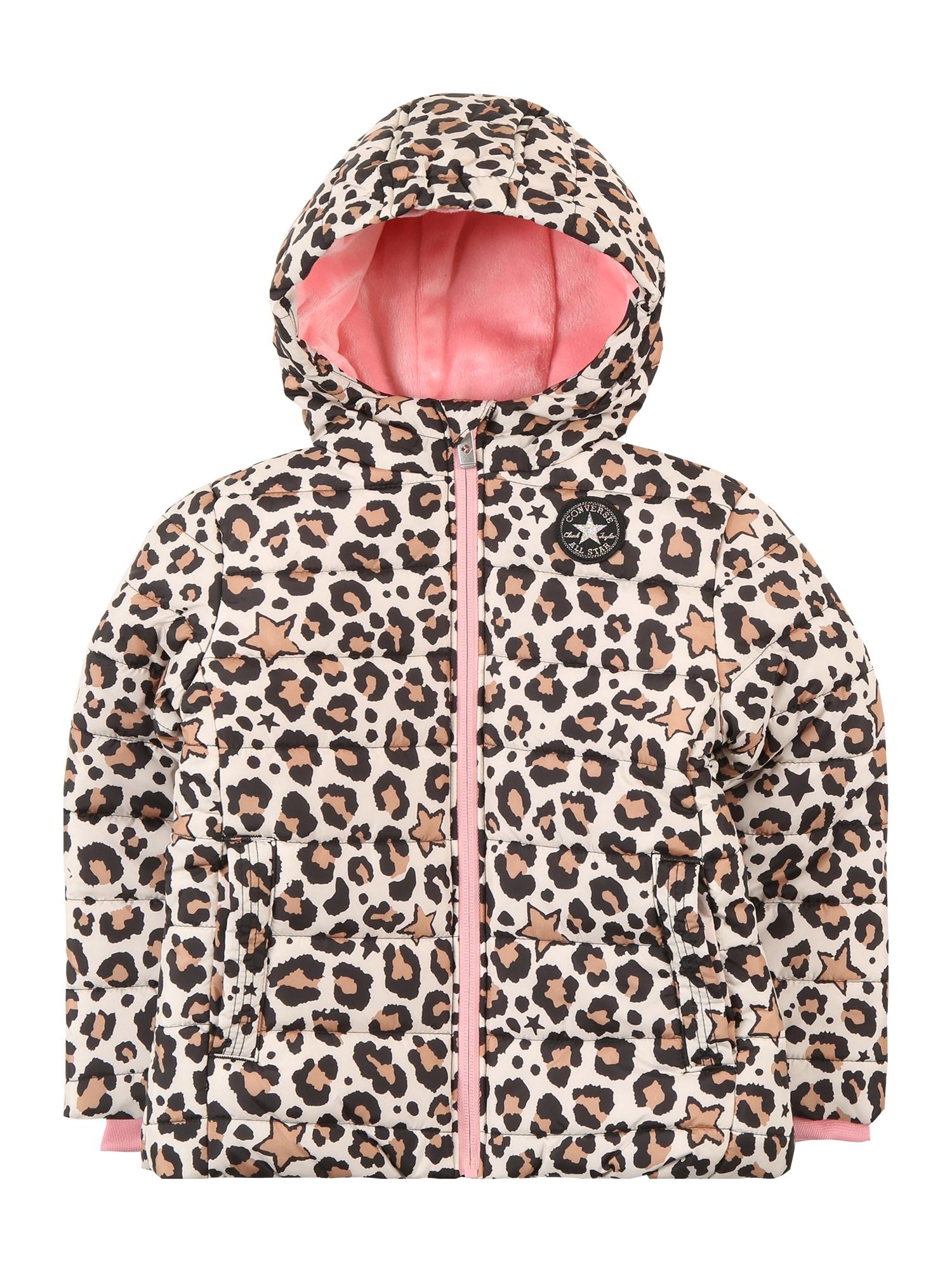 CONVERSE Zimní bunda  béžová / černá / starorůžová