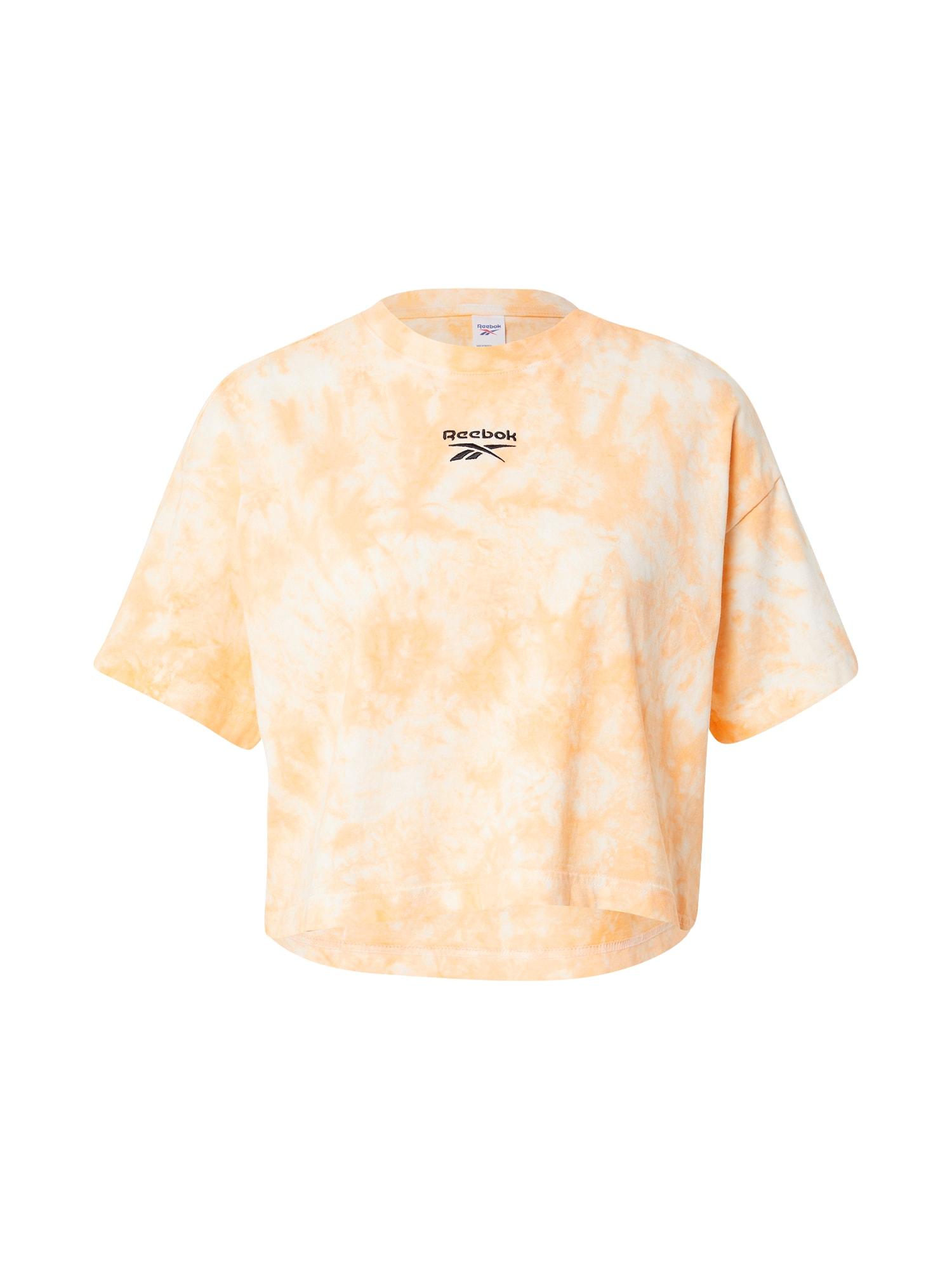 Reebok Classic Marškinėliai oranžinė / balta / juoda