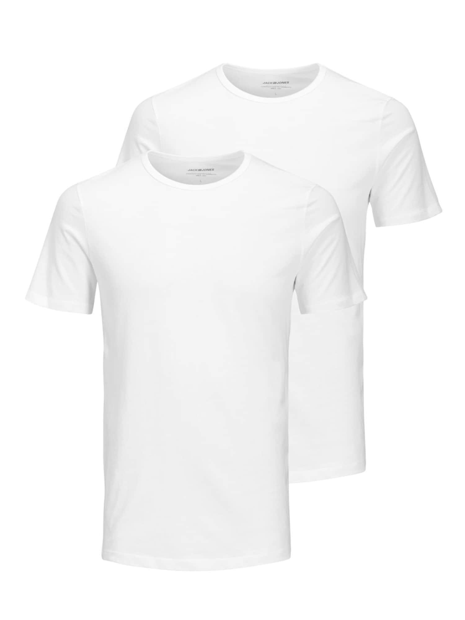 JACK & JONES Apatiniai marškinėliai balta