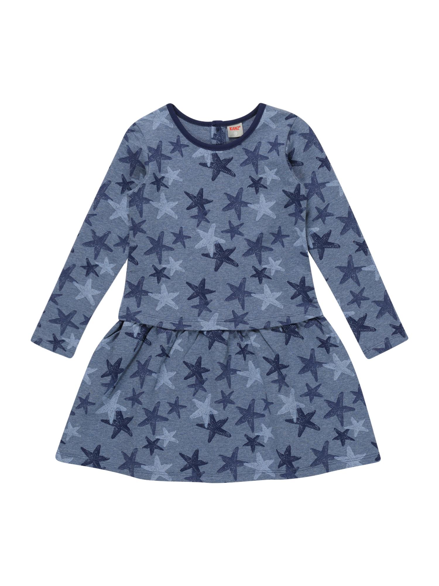 KANZ Suknelė melsvai pilka / mėlyna / mėlyna dūmų spalva