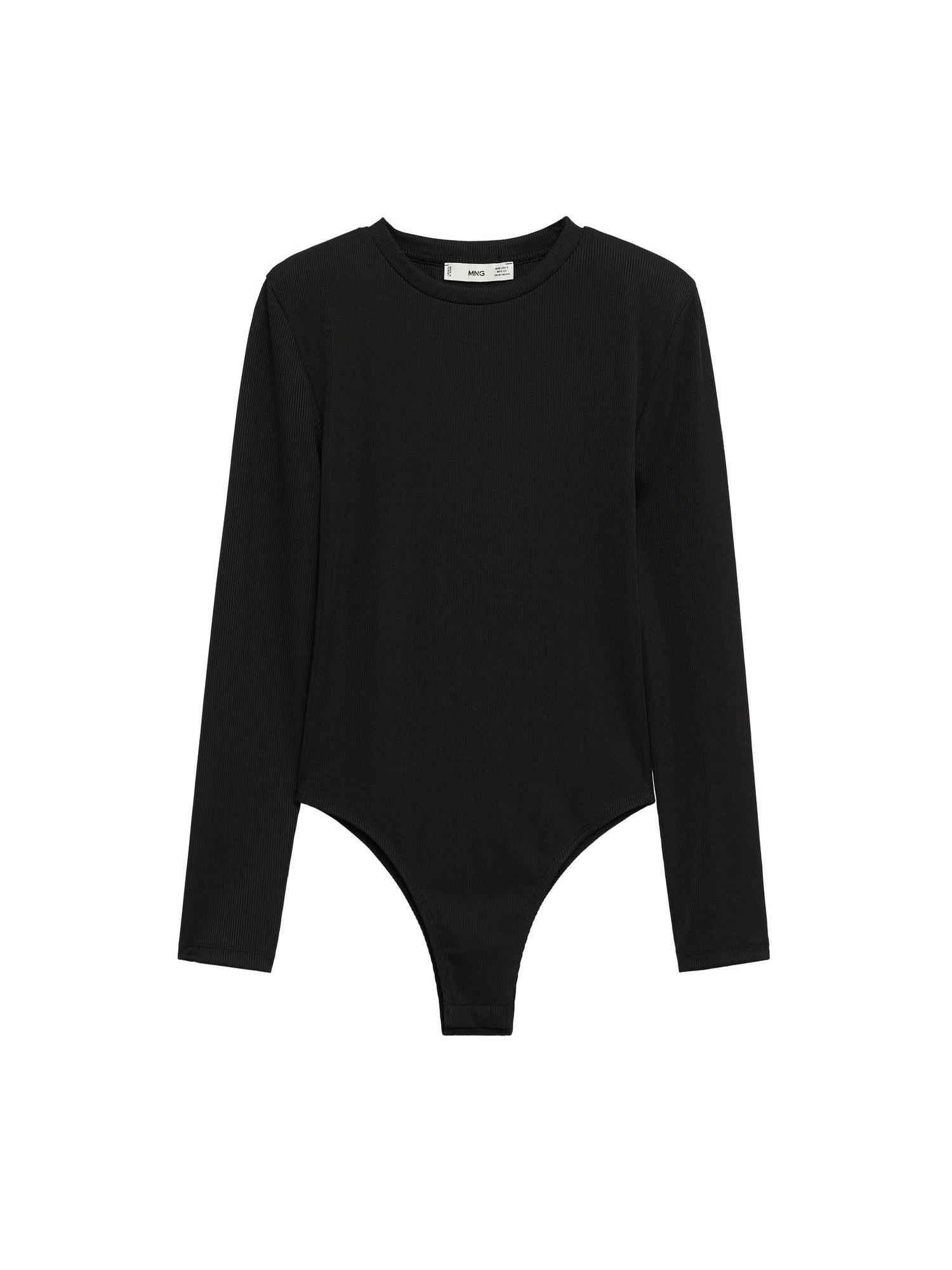 MANGO Tričkové body 'MARCELA'  černá