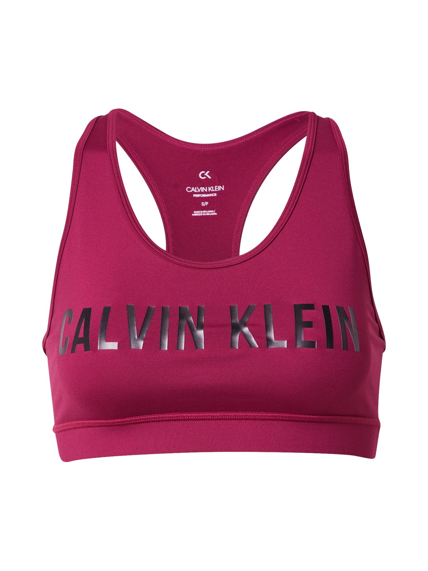 Calvin Klein Performance Sportovní podprsenka  fialová