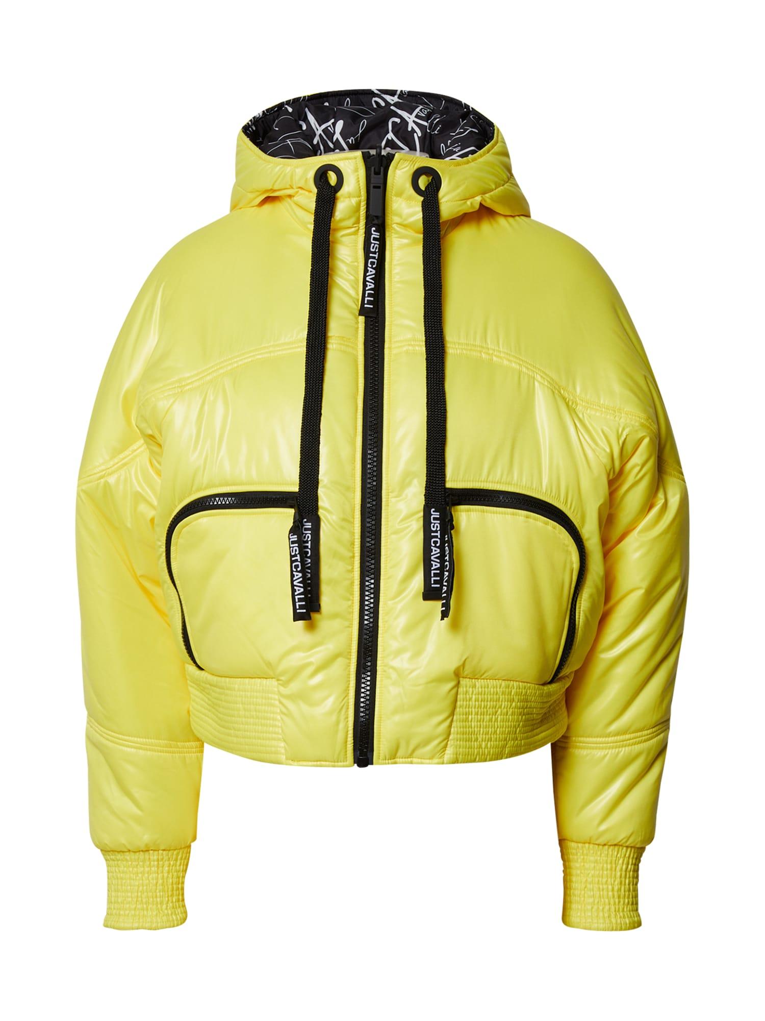 Just Cavalli Přechodná bunda  žlutá / černá
