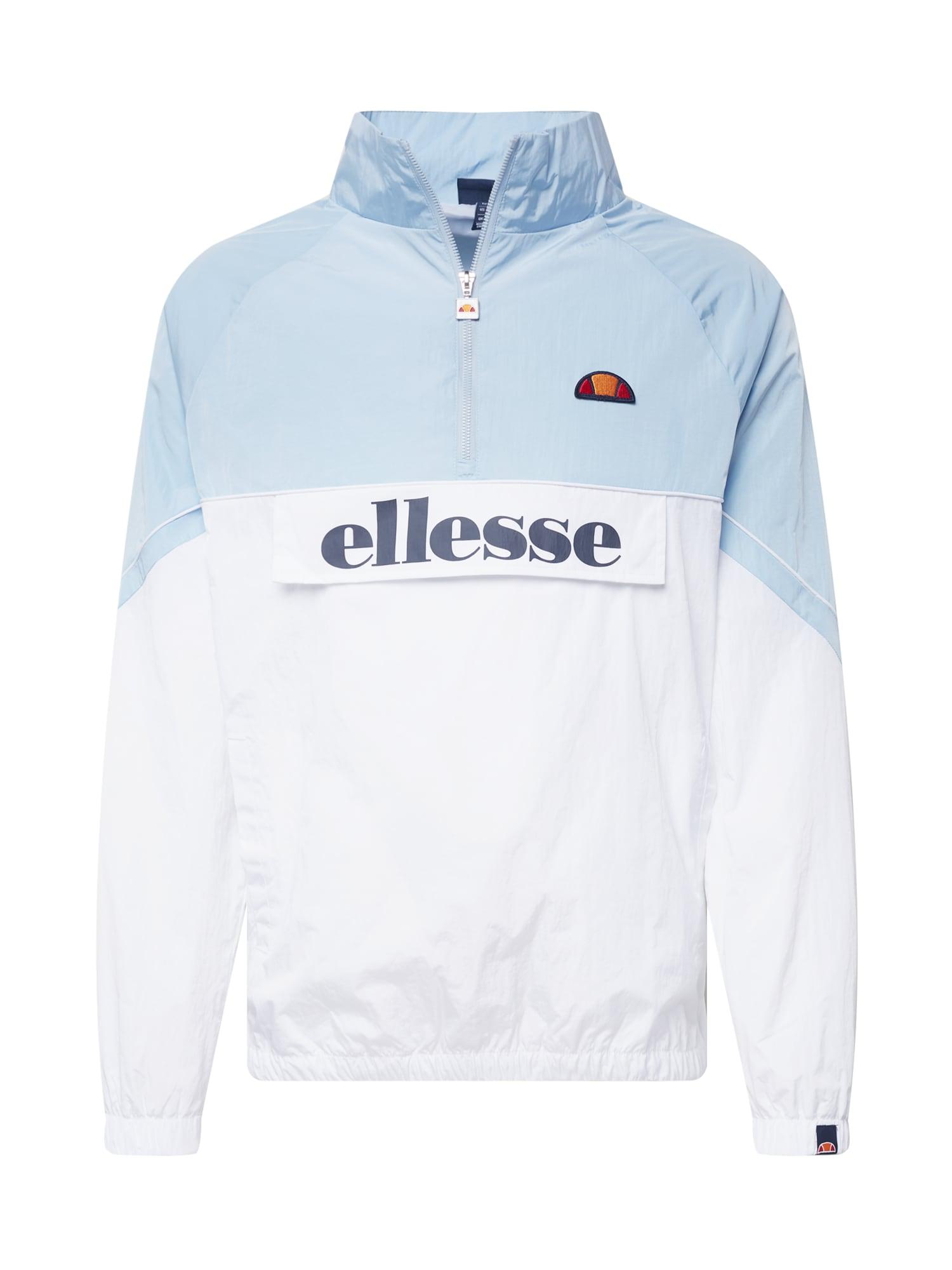 ELLESSE Demisezoninė striukė šviesiai mėlyna / balta / kobalto mėlyna