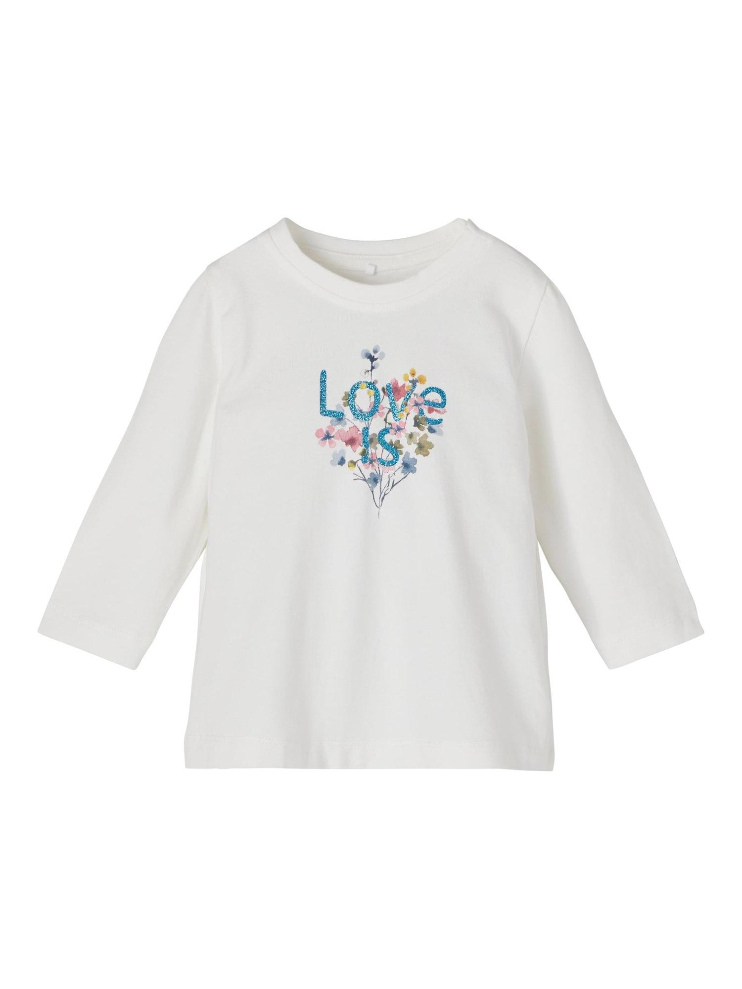 NAME IT Marškinėliai 'Tora' natūrali balta / mišrios spalvos