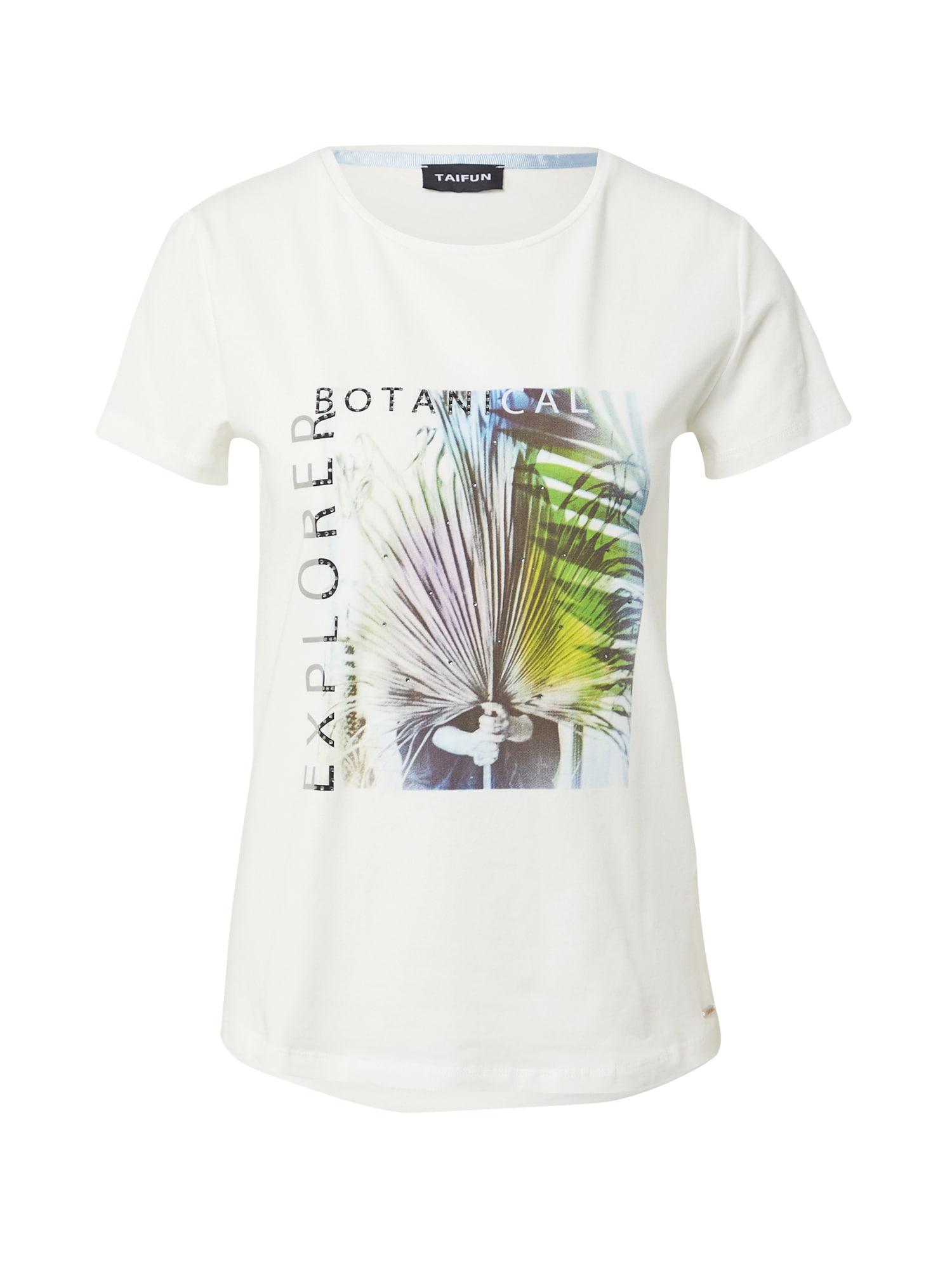 TAIFUN Marškinėliai balta / mišrios spalvos
