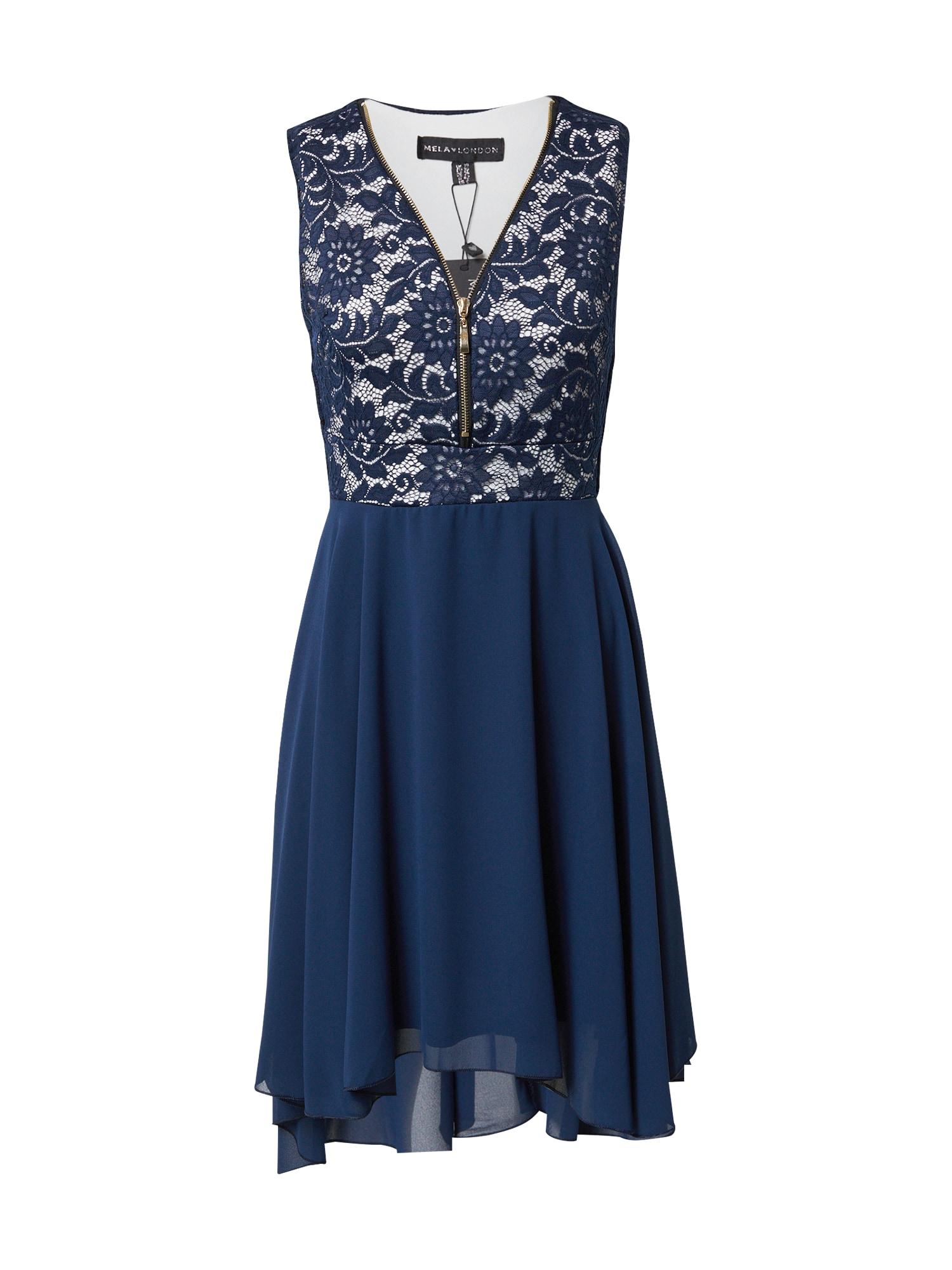 Mela London Šaty  námořnická modř / bílá