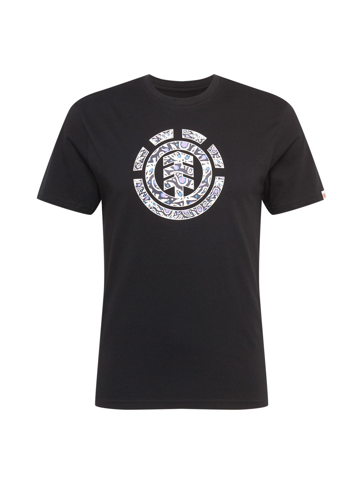ELEMENT Marškinėliai juoda / balta / turkio spalva / alyvinė spalva