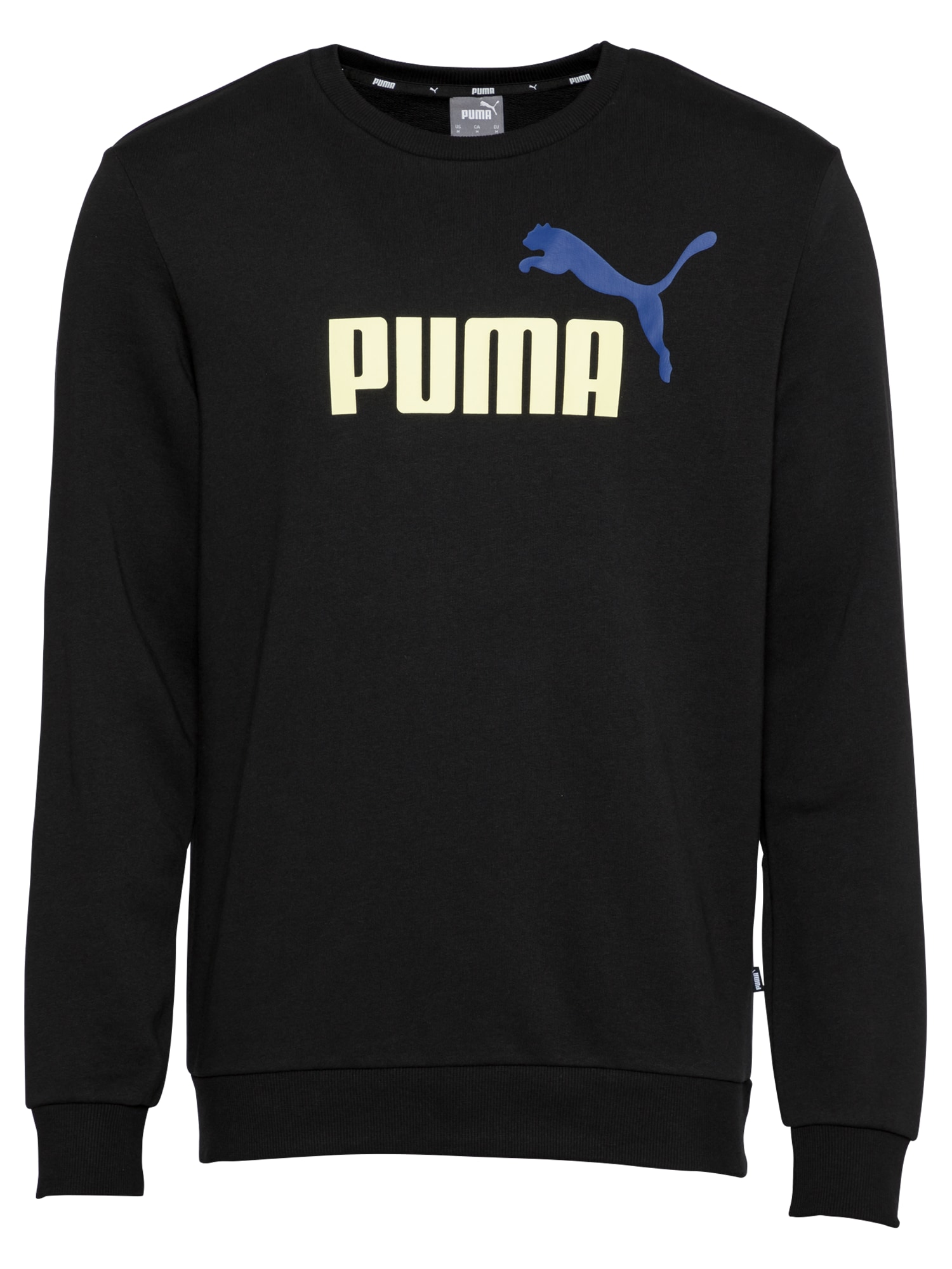 "PUMA Sportinio tipo megztinis juoda / balta / sodri mėlyna (""karališka"")"