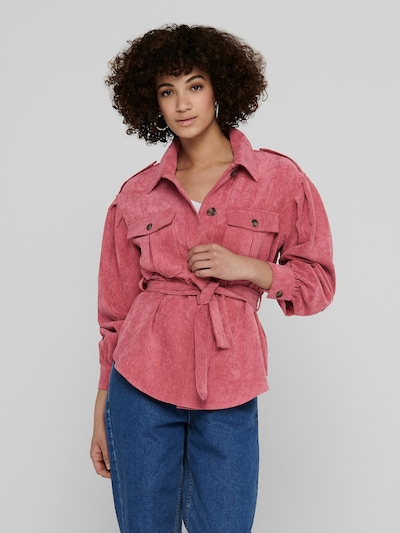 Only Nina kurzes Kord-Jackenhemd mit Gürtel