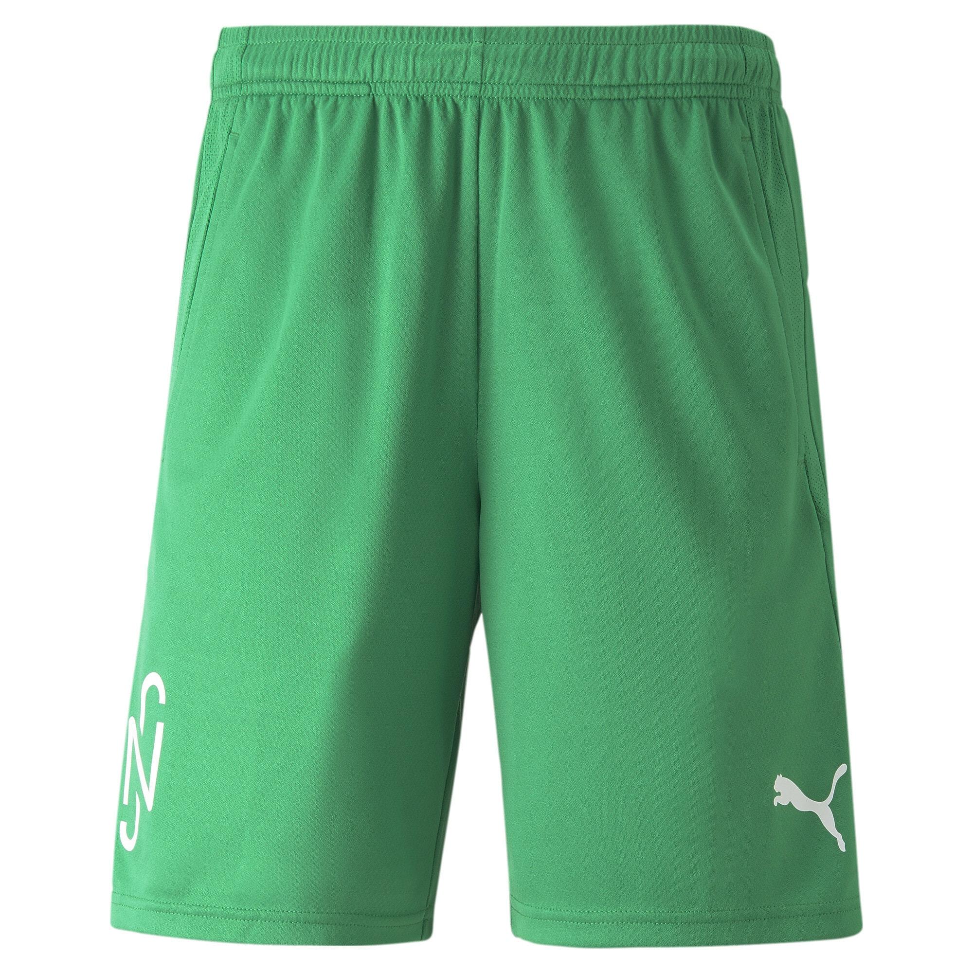 PUMA Športové nohavice 'Neymar'  biela / zelená