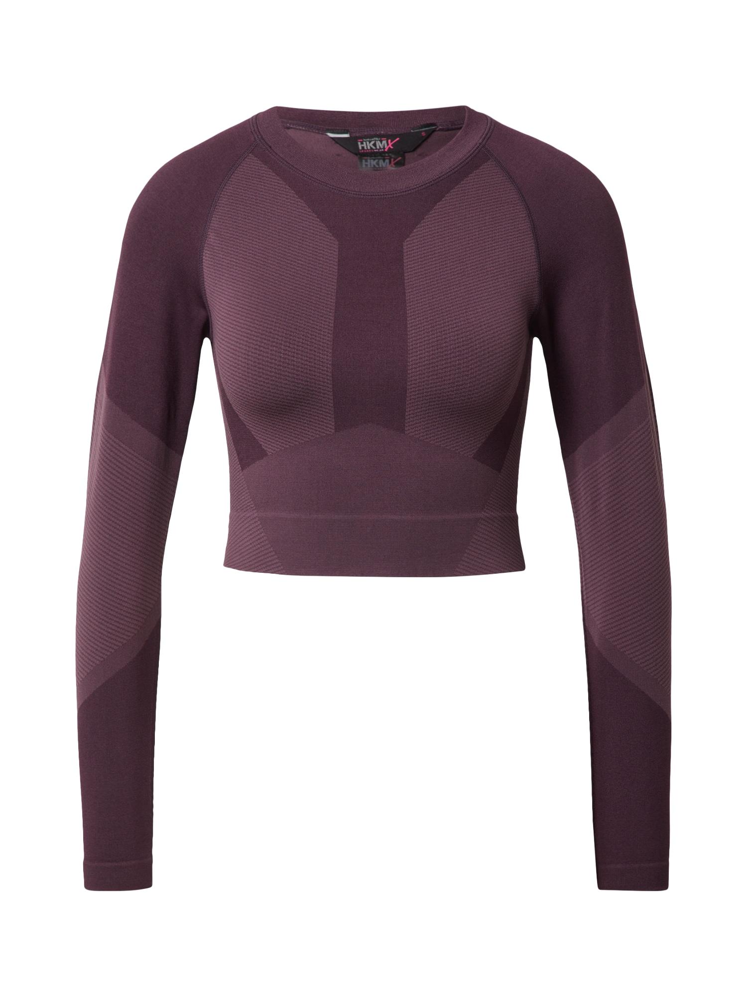 HKMX Sportiniai marškinėliai slyvų spalva / tamsiai violetinė