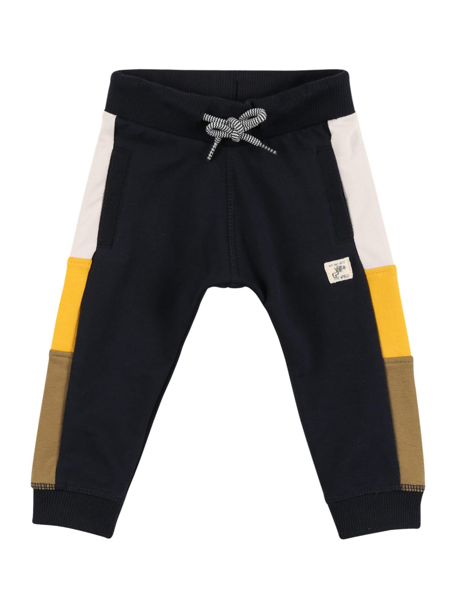 Noppies Kelnės 'Tebworth' tamsiai mėlyna / balta / geltona / ruda