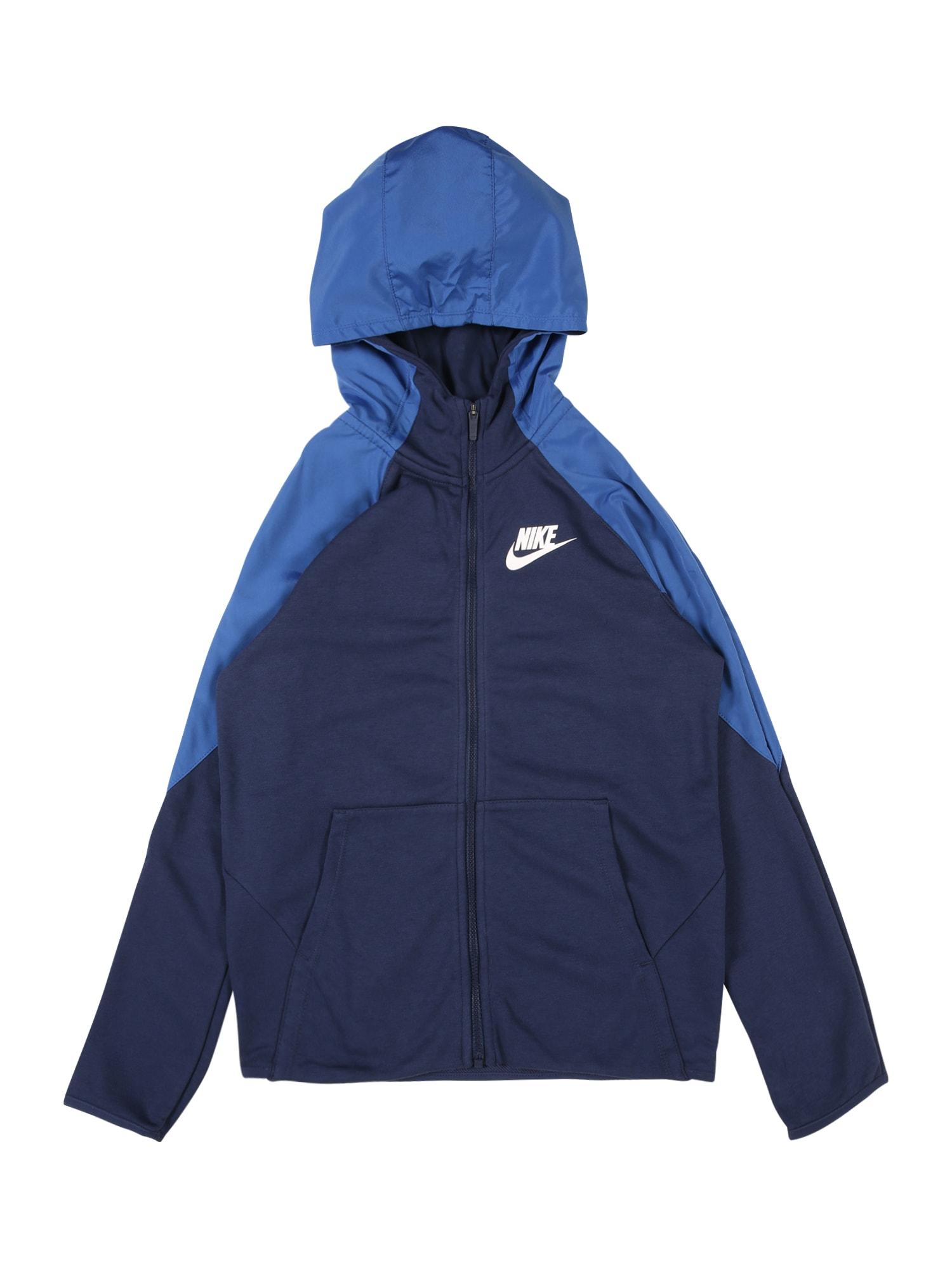Nike Sportswear Tepláková bunda  tmavomodrá / modrá
