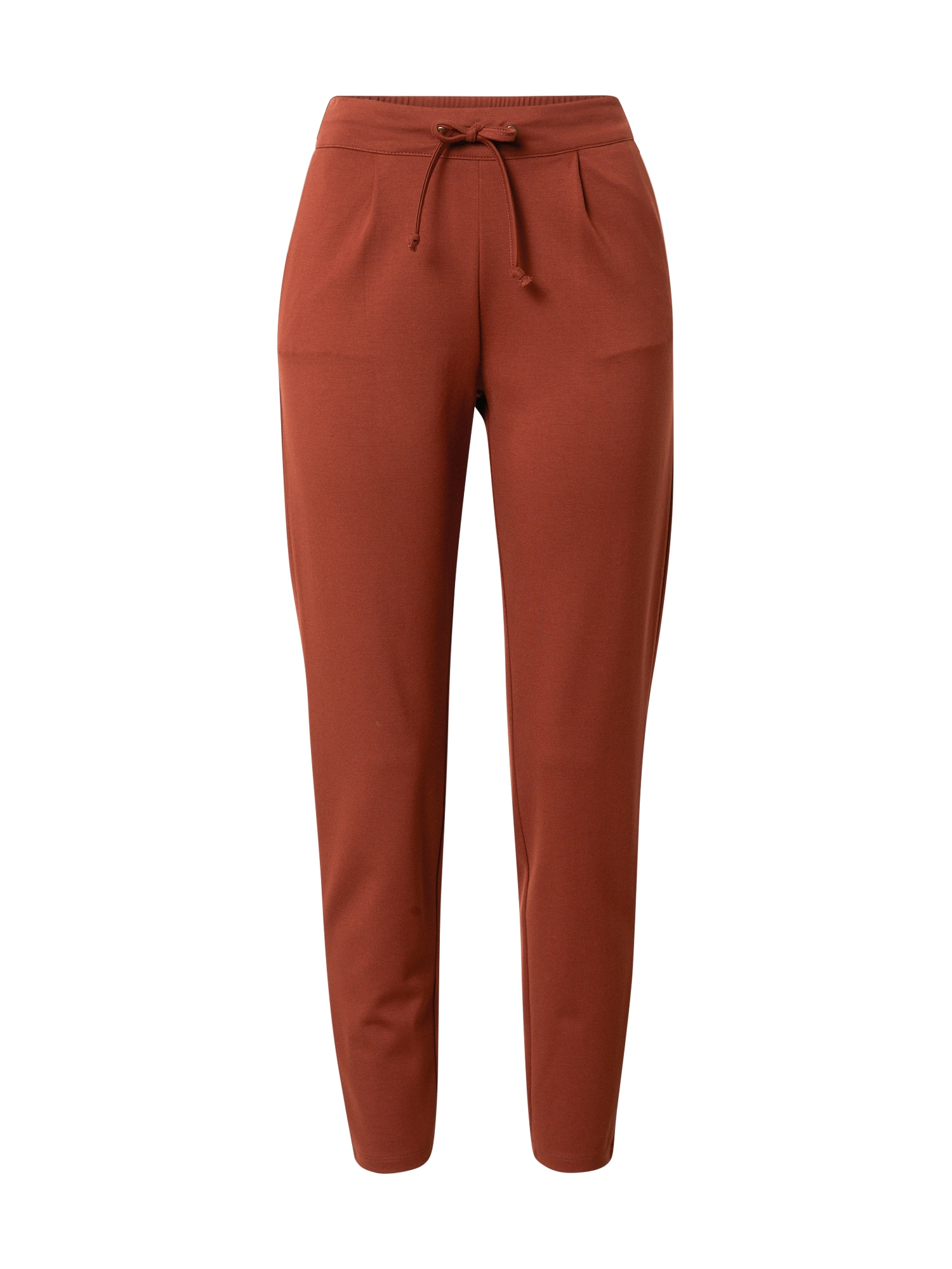 JACQUELINE de YONG Plisované nohavice 'Pretty'  gaštanová / oranžovo červená / hnedá