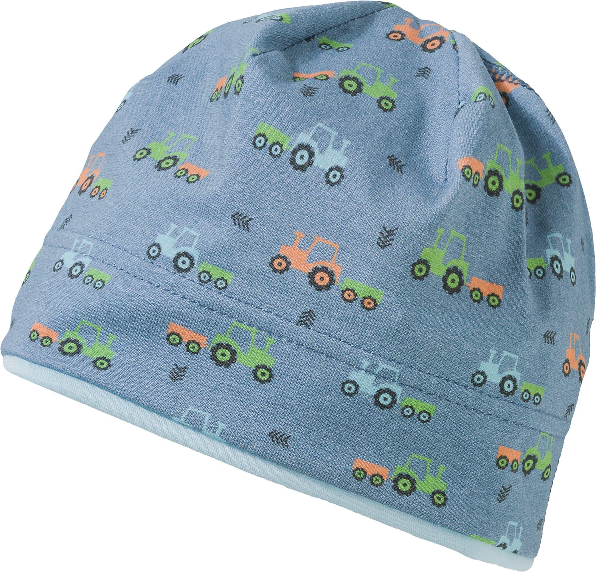 MAXIMO Megzta kepurė melsvai pilka / žalia / oranžinė / šviesiai mėlyna