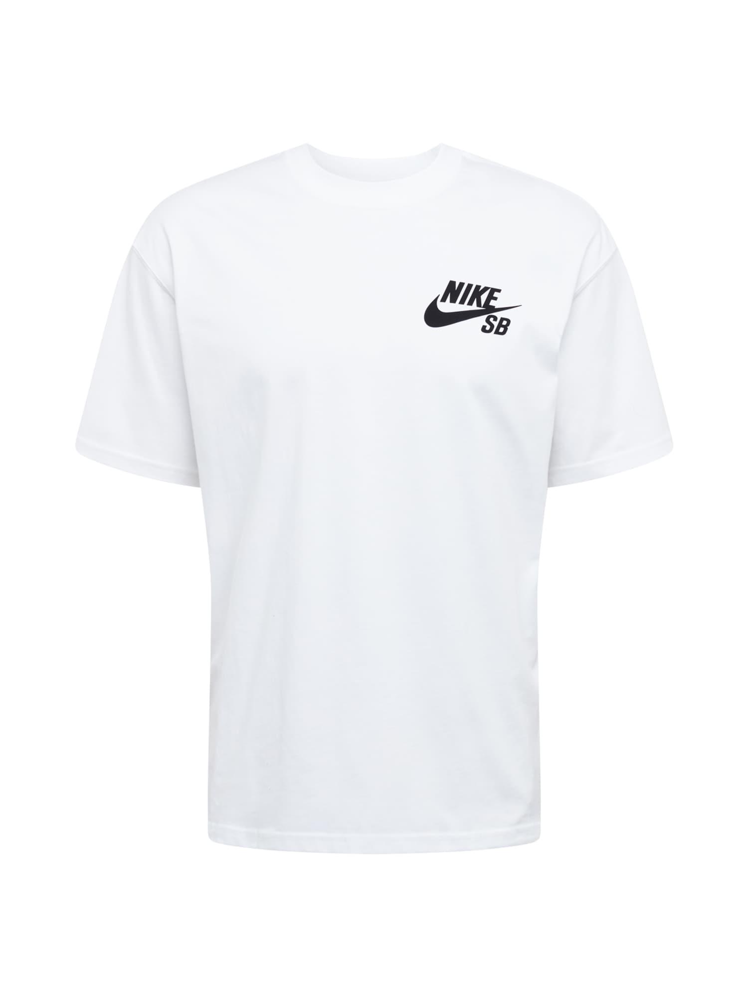 Nike SB Marškinėliai juoda / balta