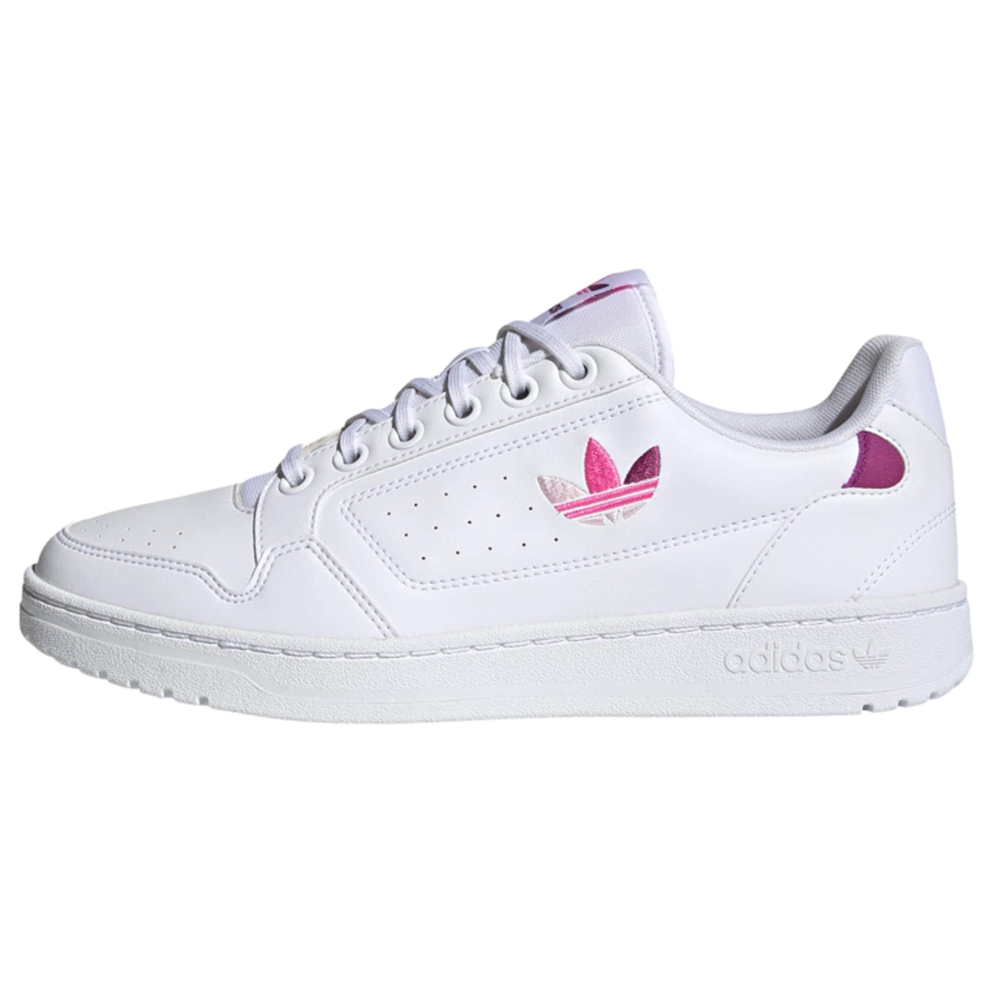 ADIDAS ORIGINALS Nízke tenisky 'NY 90'  biela / ružová / tmavofialová