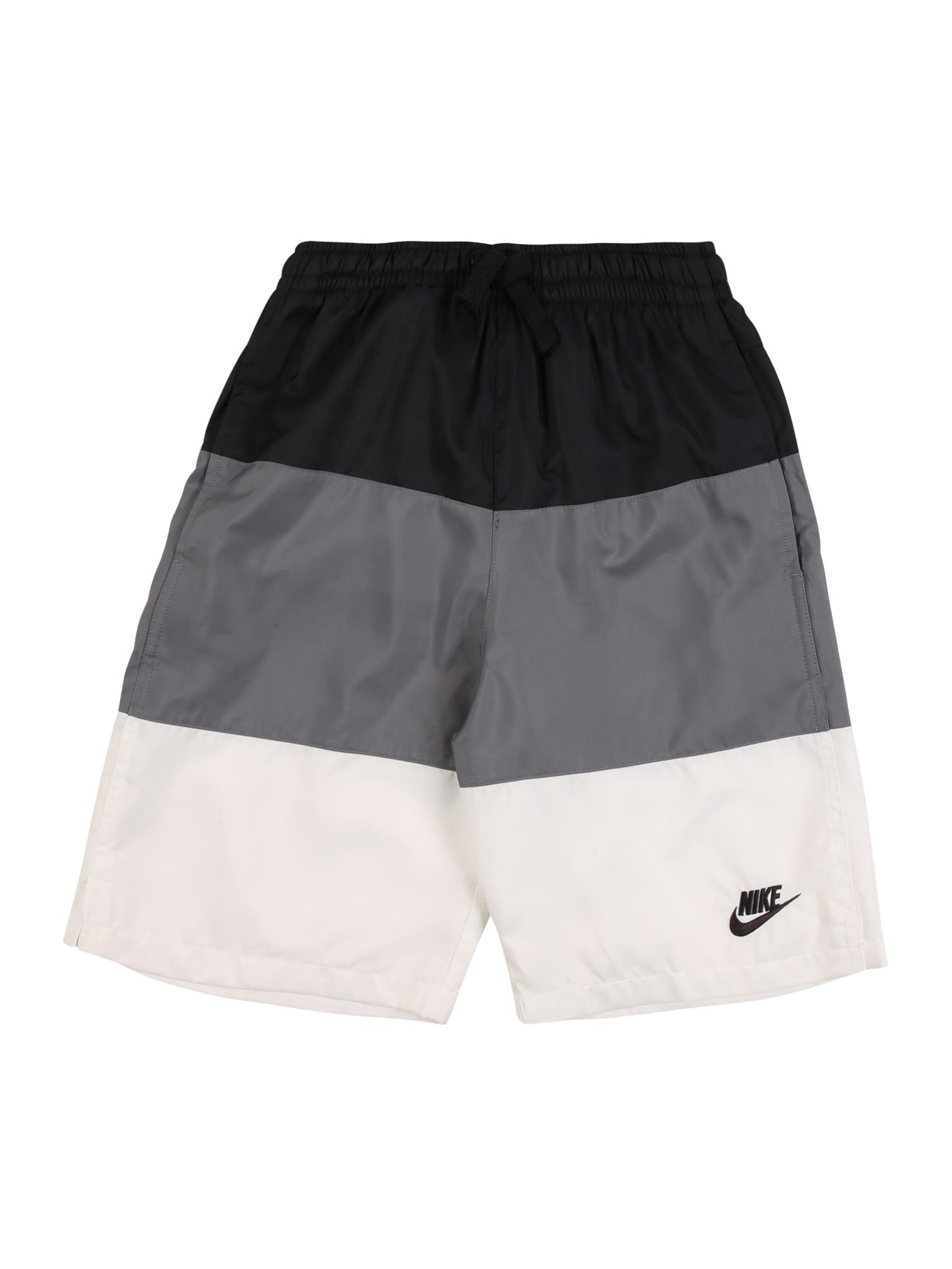 Nike Sportswear Nohavice  čierna / sivá / biela